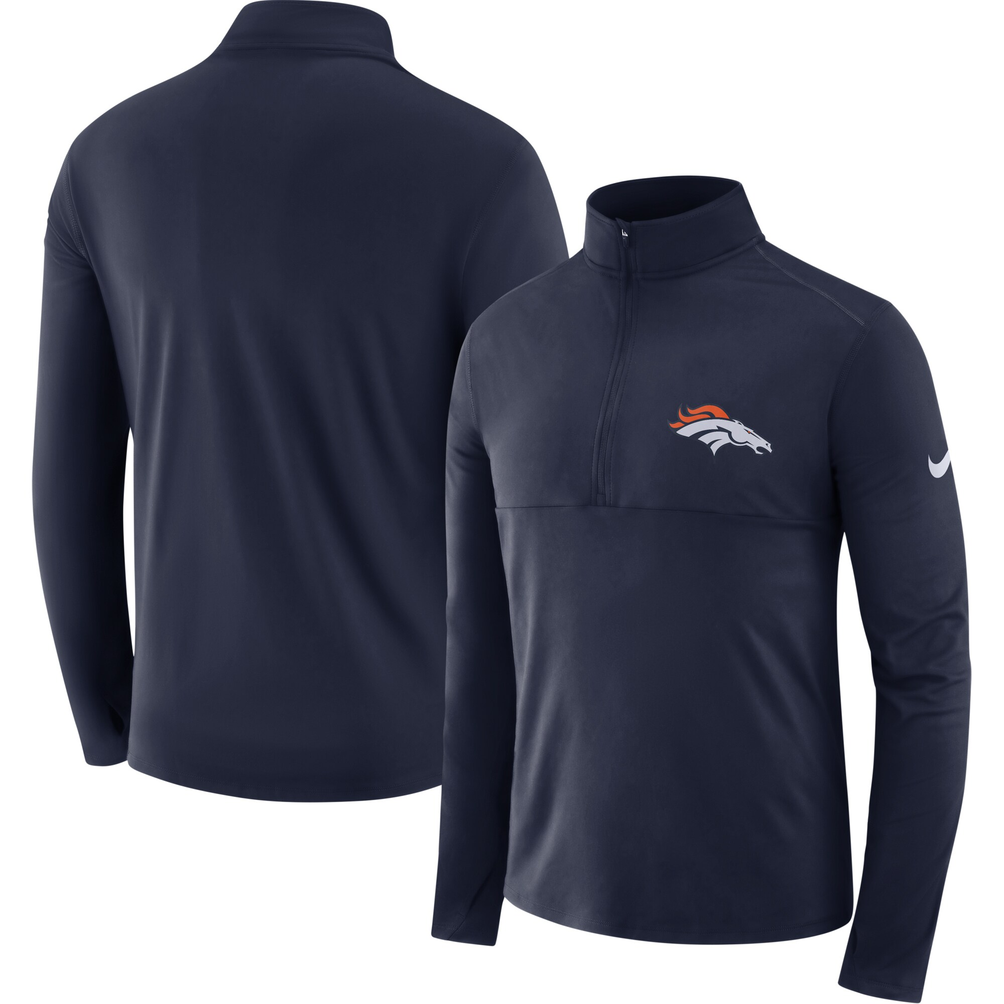 Denver Broncos Nike Fan Gear Element Half-Zip Performance Jacket - Navy