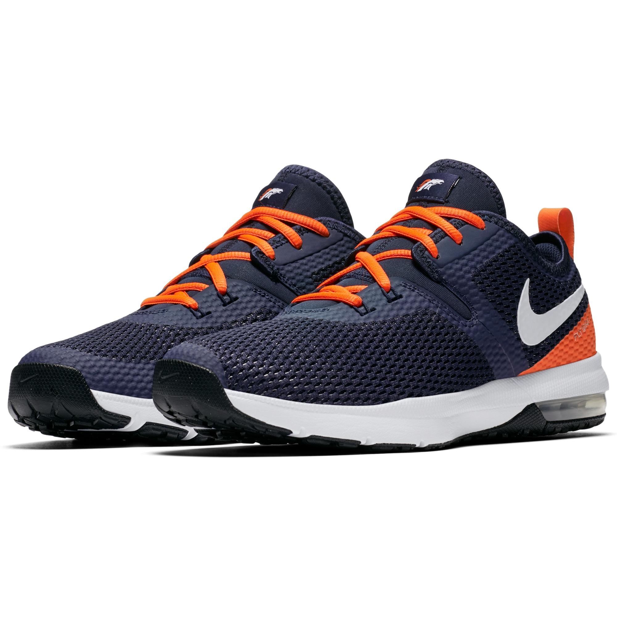 Denver Broncos Nike Air Max Typha 2 Shoes - Navy/Orange