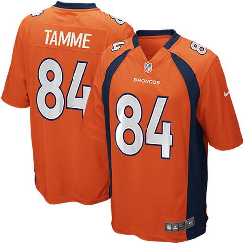 Jacob Tamme Denver Broncos Nike Youth Team Color Game Jersey - Orange