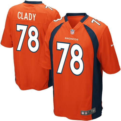 Ryan Clady Denver Broncos Nike Youth Team Color Game Jersey - Orange