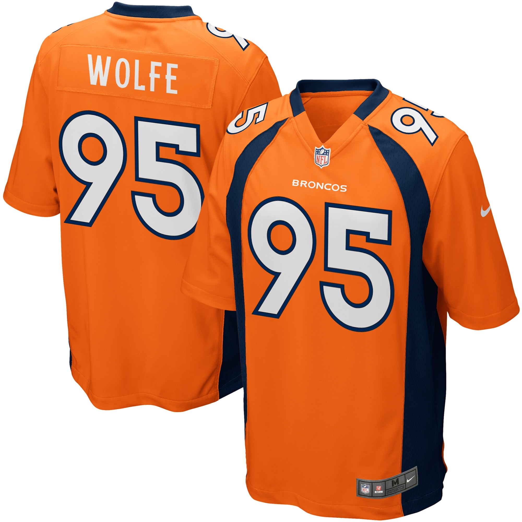Derek Wolfe Denver Broncos Nike Game Jersey - Orange