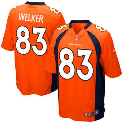 Wes Welker Denver Broncos Nike Youth Team Color Game Jersey - Orange