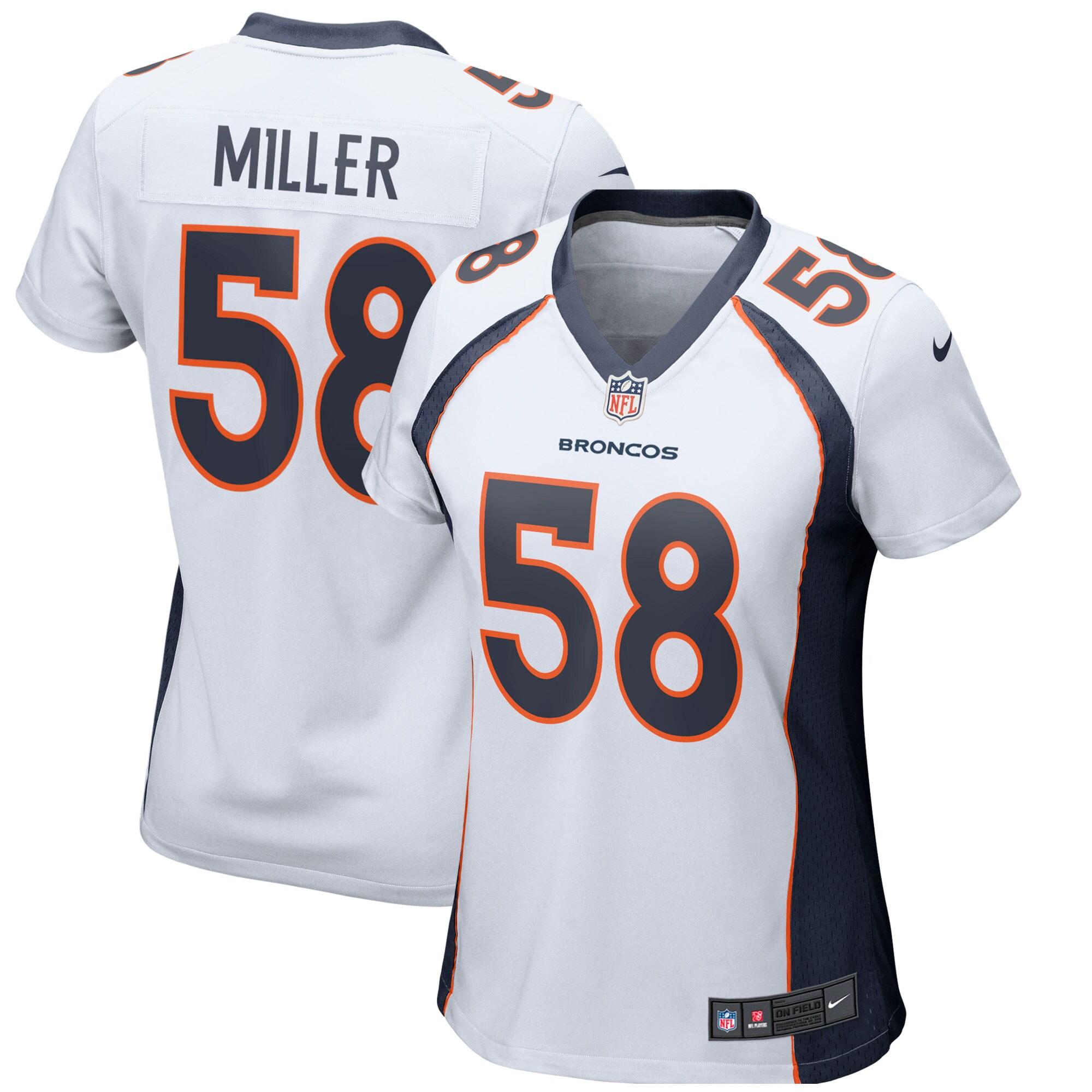 Von Miller Denver Broncos Nike Women's Game II Jersey - White