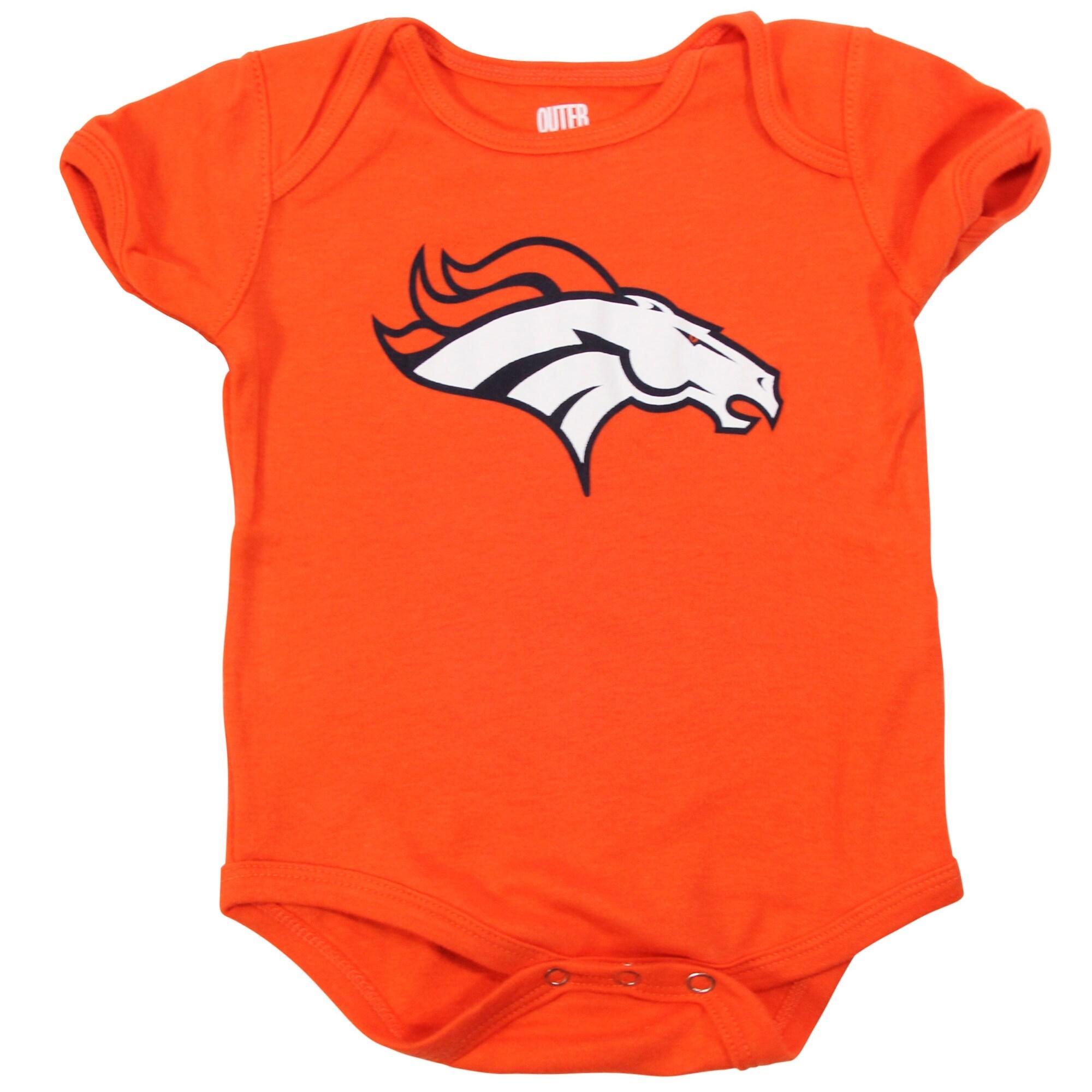 Denver Broncos Newborn & Infant Team Logo Bodysuit - Orange