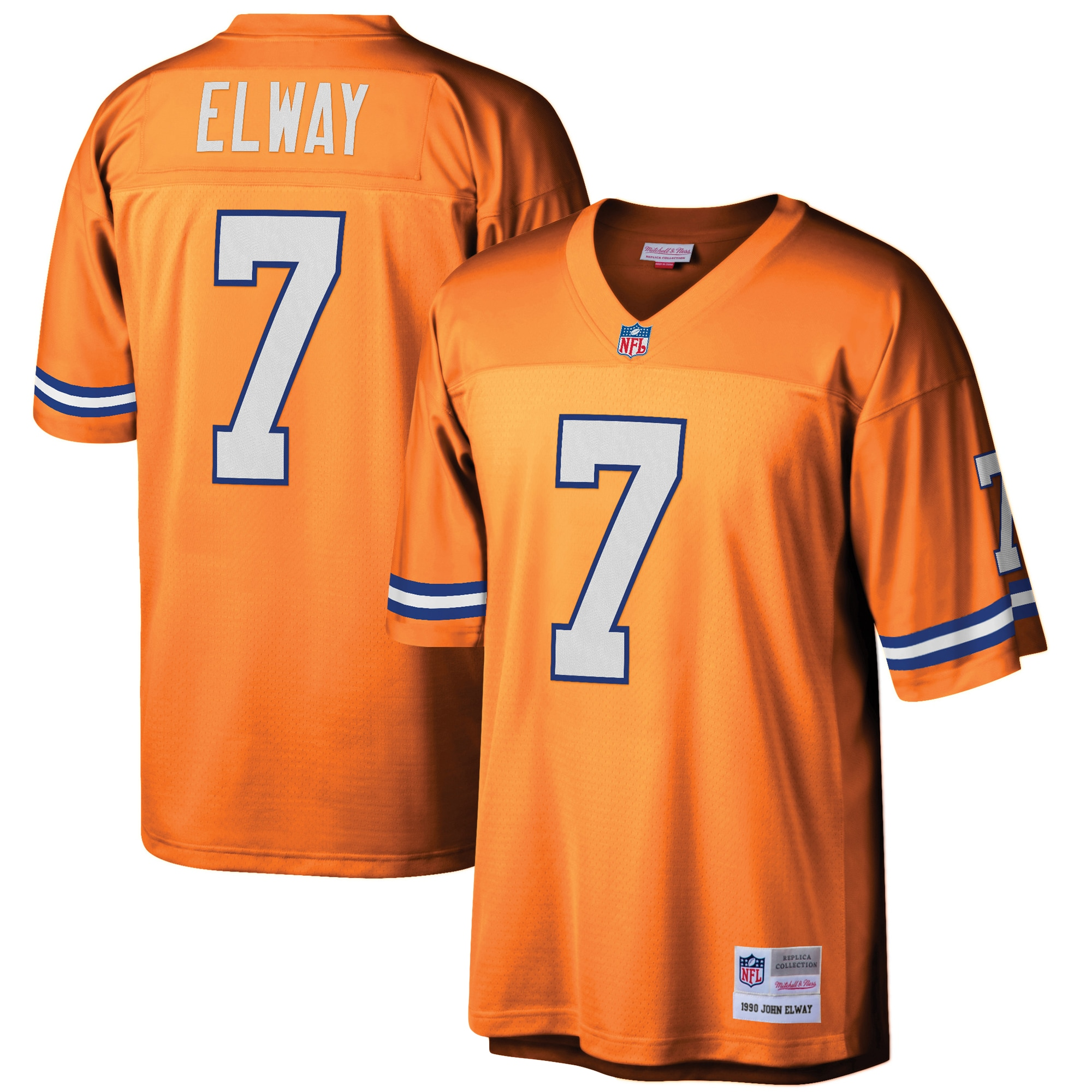 John Elway Denver Broncos Mitchell & Ness Retired Player Legacy Replica Jersey - Orange