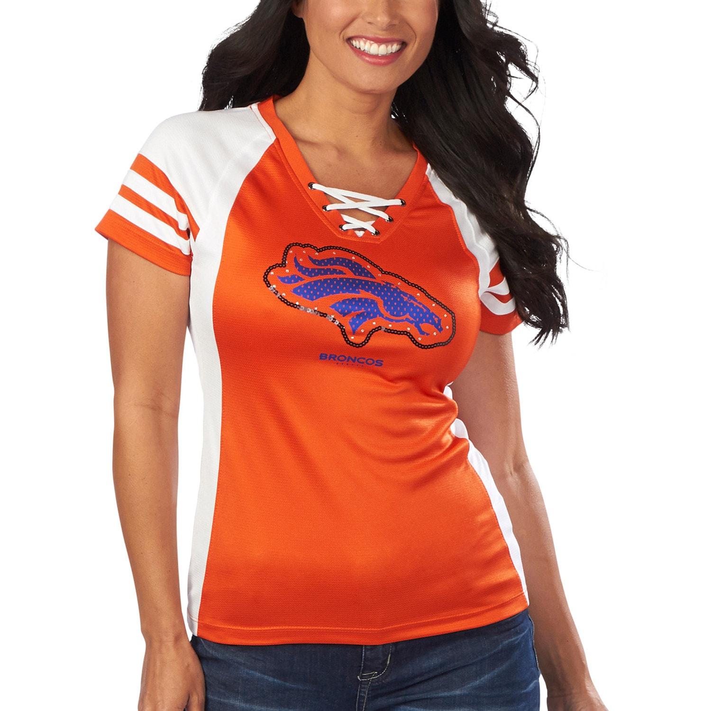 Denver Broncos Majestic Women's Draft Me VII T-Shirt - Orange