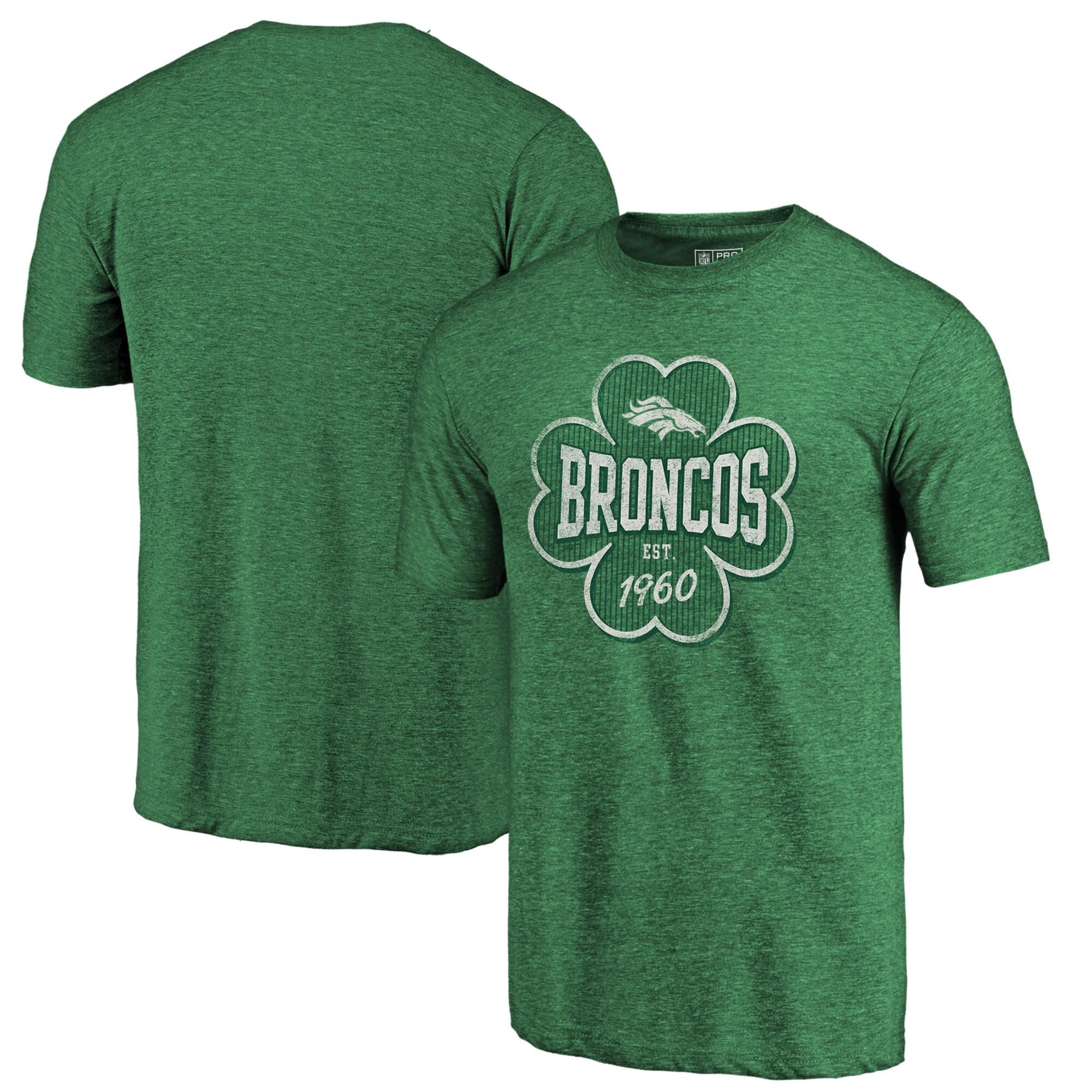 Denver Broncos NFL Pro Line by Fanatics Branded Emerald Isle Tri-Blend T-Shirt - Kelly Green