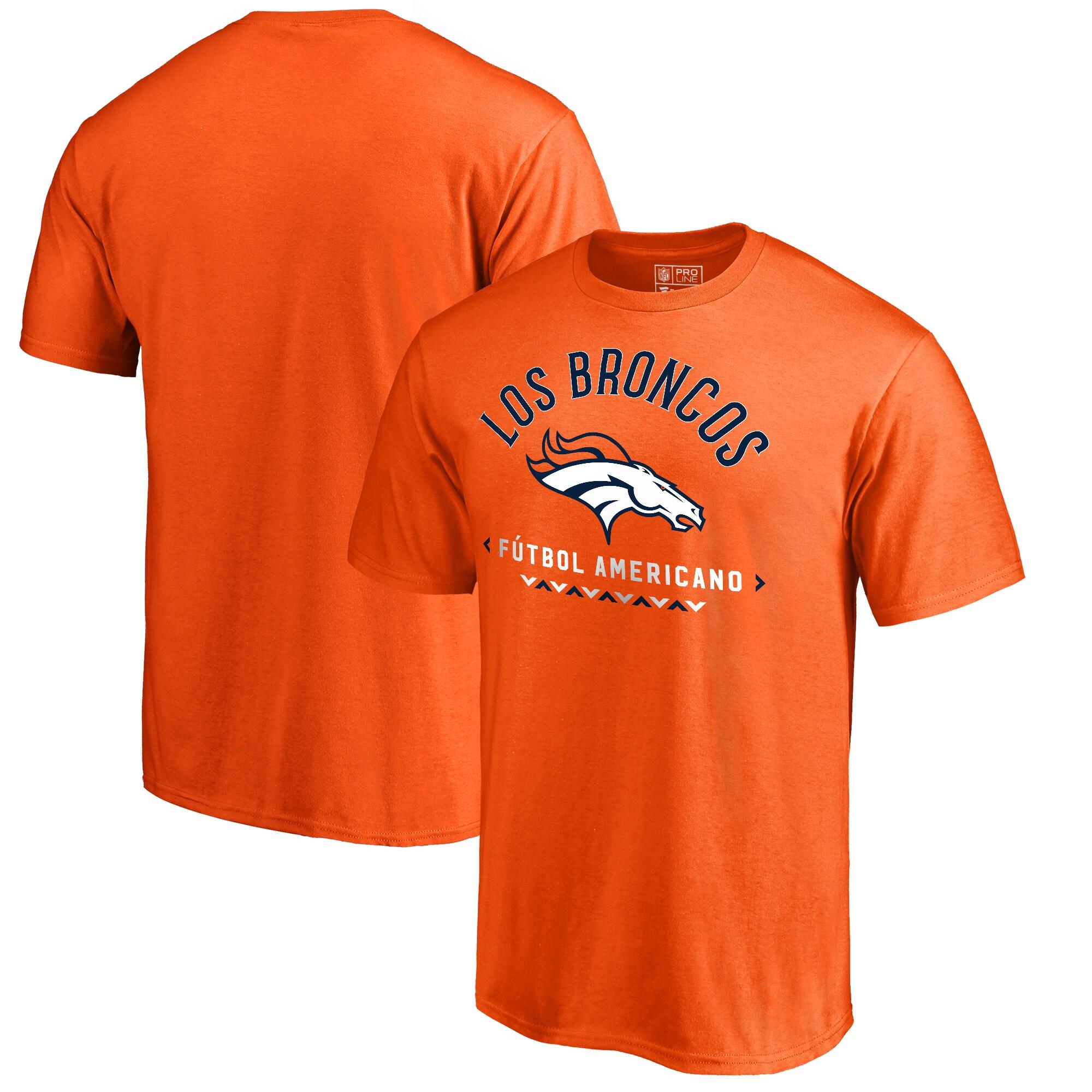 Denver Broncos NFL Pro Line by Fanatics Branded Futbol Americano Big & Tall T-Shirt - Orange