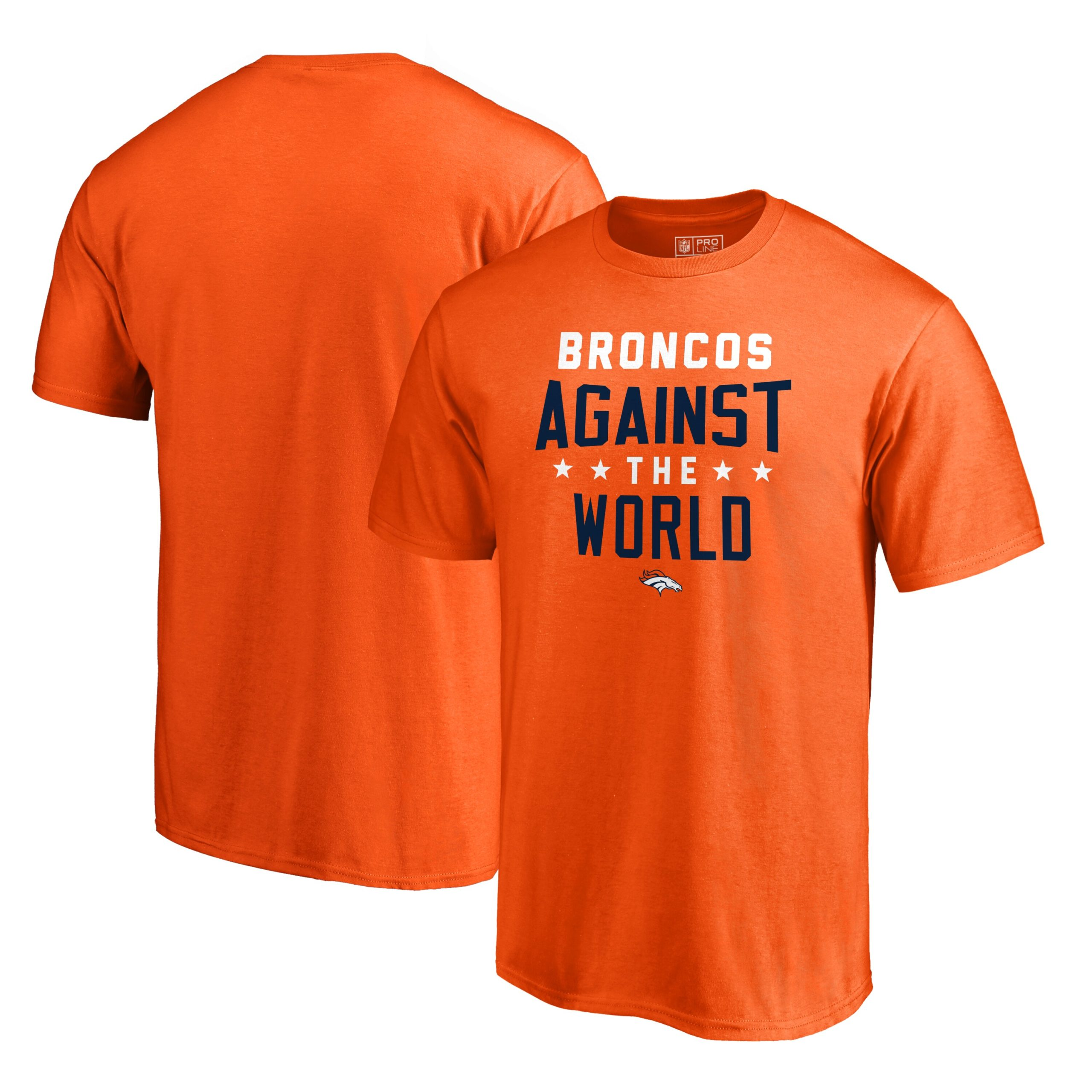Denver Broncos NFL Pro Line by Fanatics Branded Against The World T-Shirt - Orange