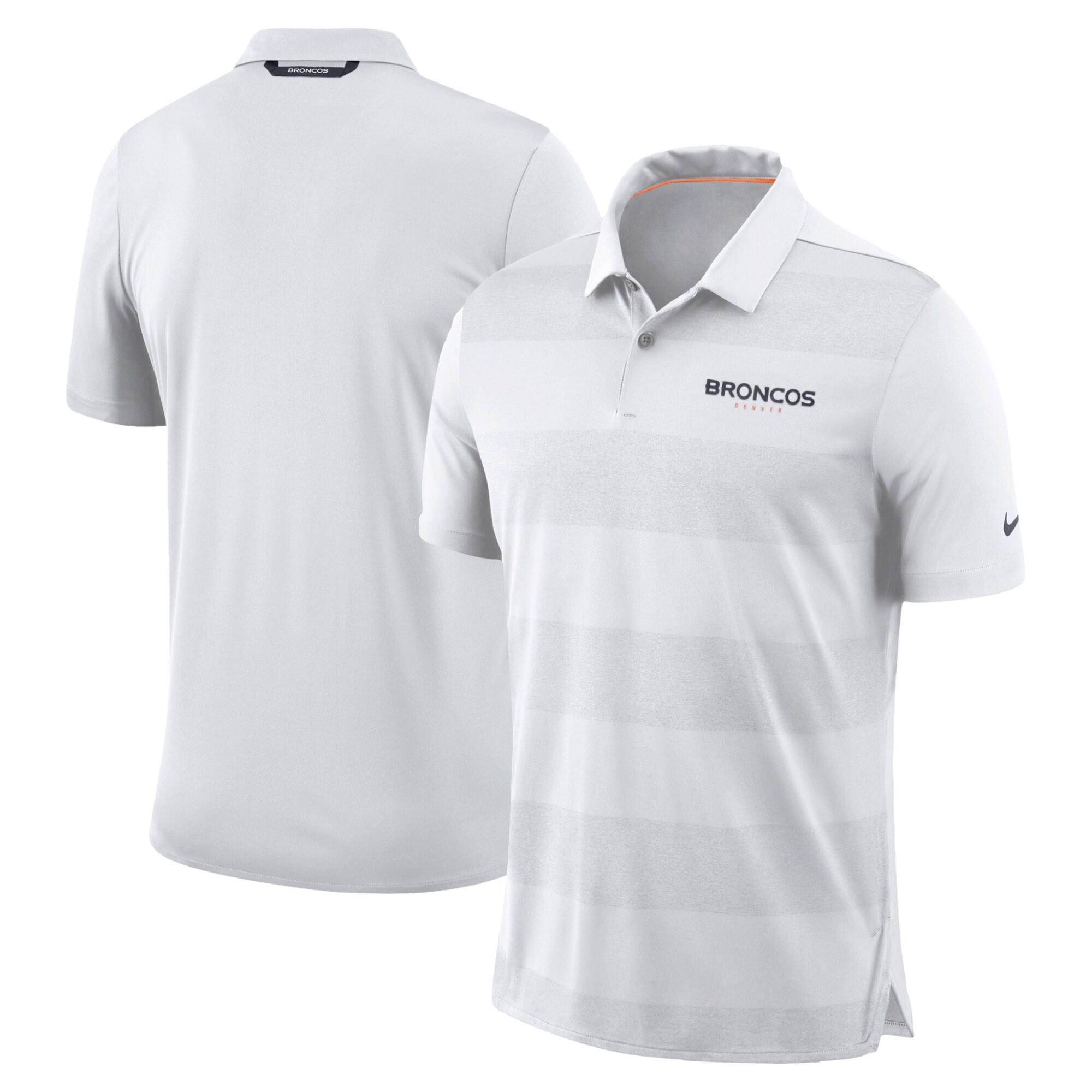 Denver Broncos Nike Sideline Early Season Wordmark Performance Polo - White