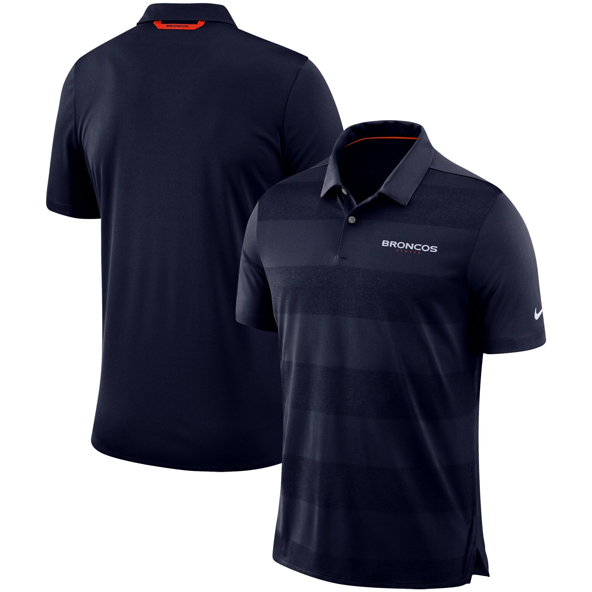 Denver Broncos Nike Sideline Early Season Wordmark Performance Polo - Navy