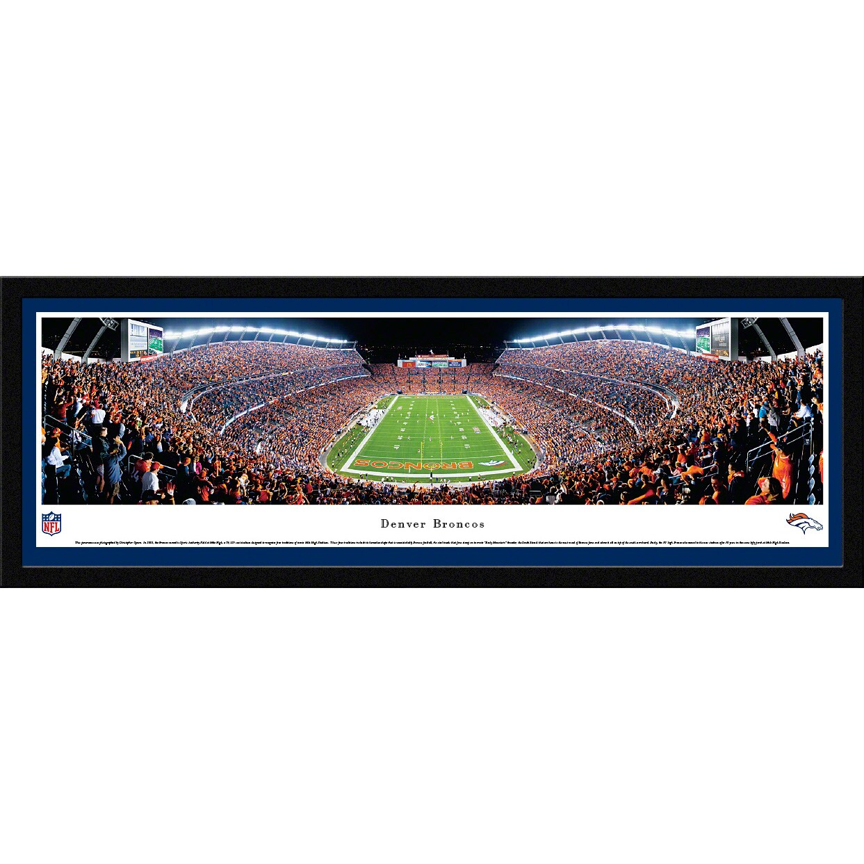 "Denver Broncos 16"" x 42"" Select Frame Panoramic Photo"