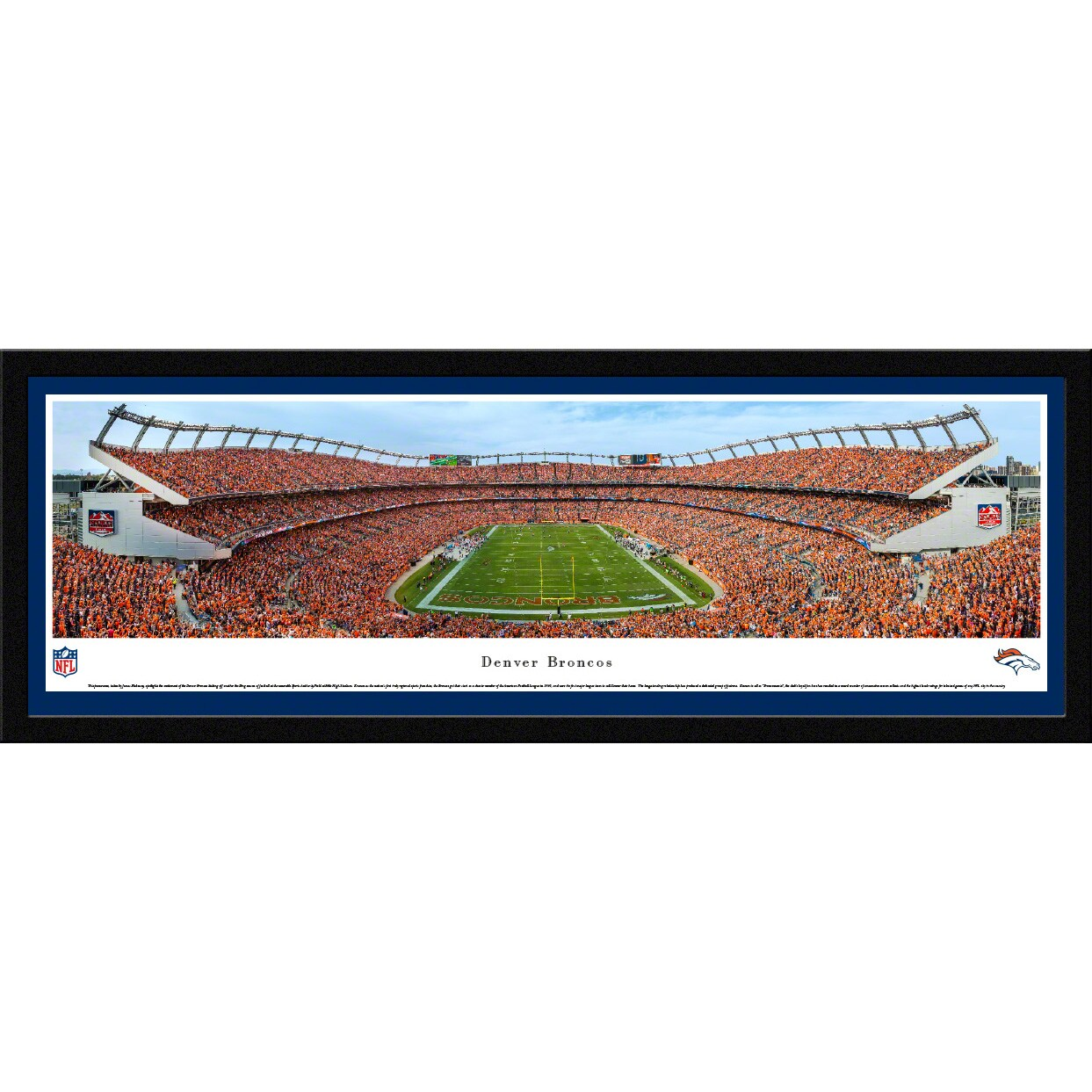 "Denver Broncos 16"" x 42"" Select Frame Stadium Panoramic Photo"