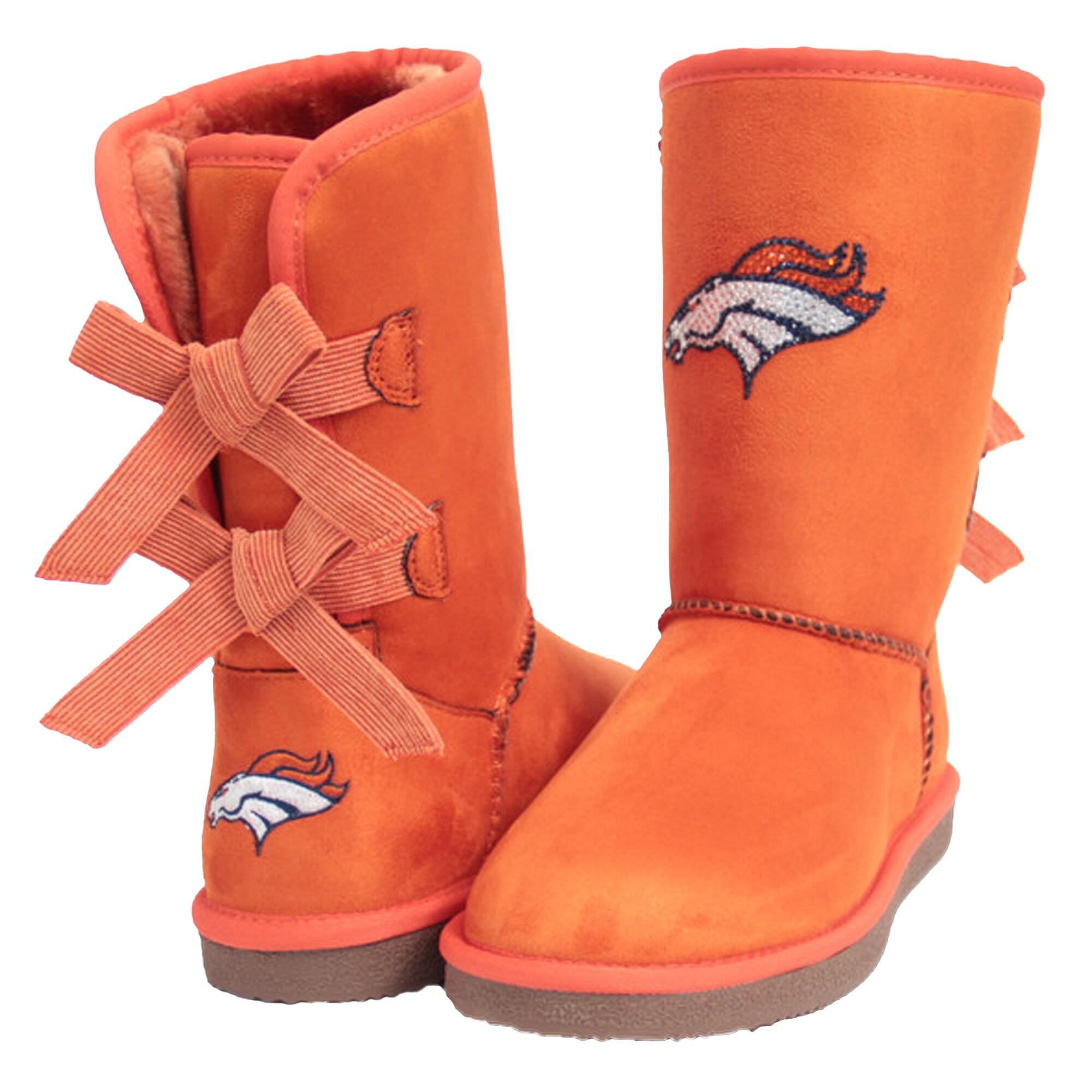 Denver Broncos Cuce Women's Patron Bow Boots - Orange