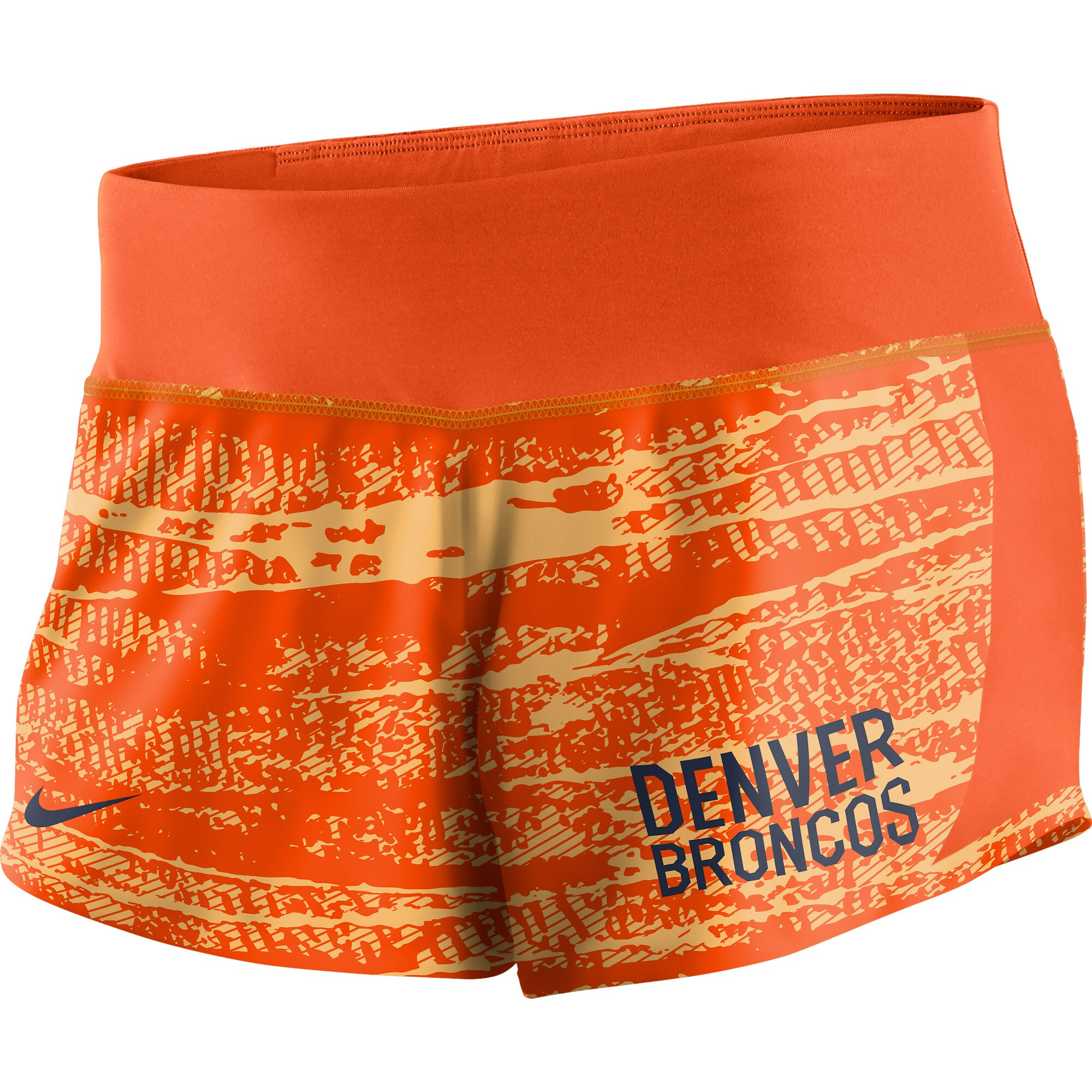 Denver Broncos Nike Women's Crew Shorts - Orange