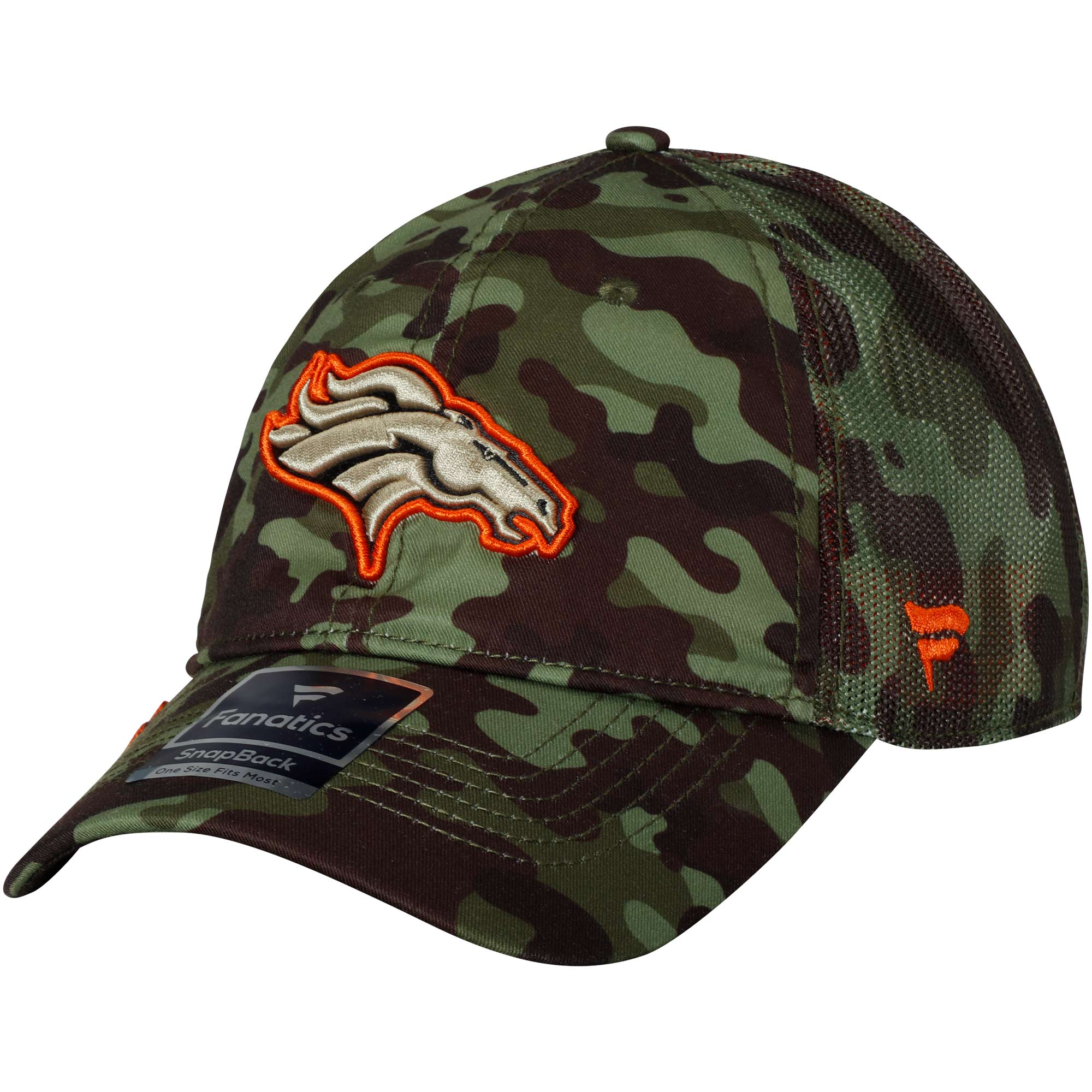 Denver Broncos NFL Pro Line by Fanatics Branded Recon Trucker Adjustable Hat - Camo