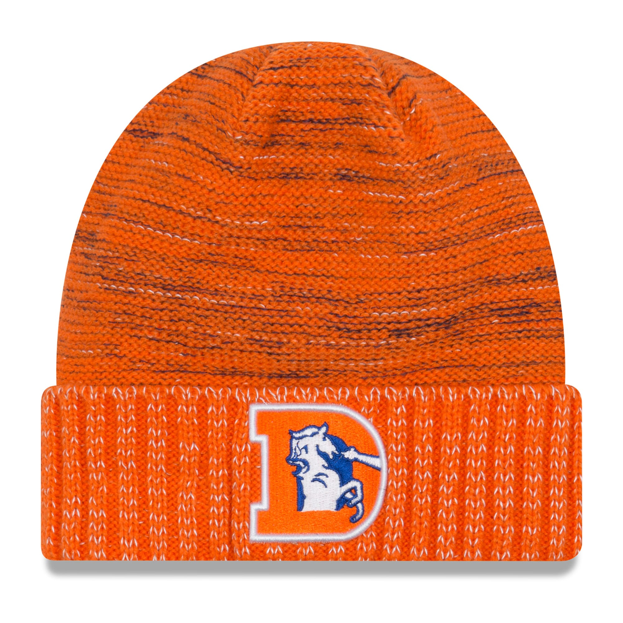 Denver Broncos New Era 2017 Color Rush Knit Hat - Orange