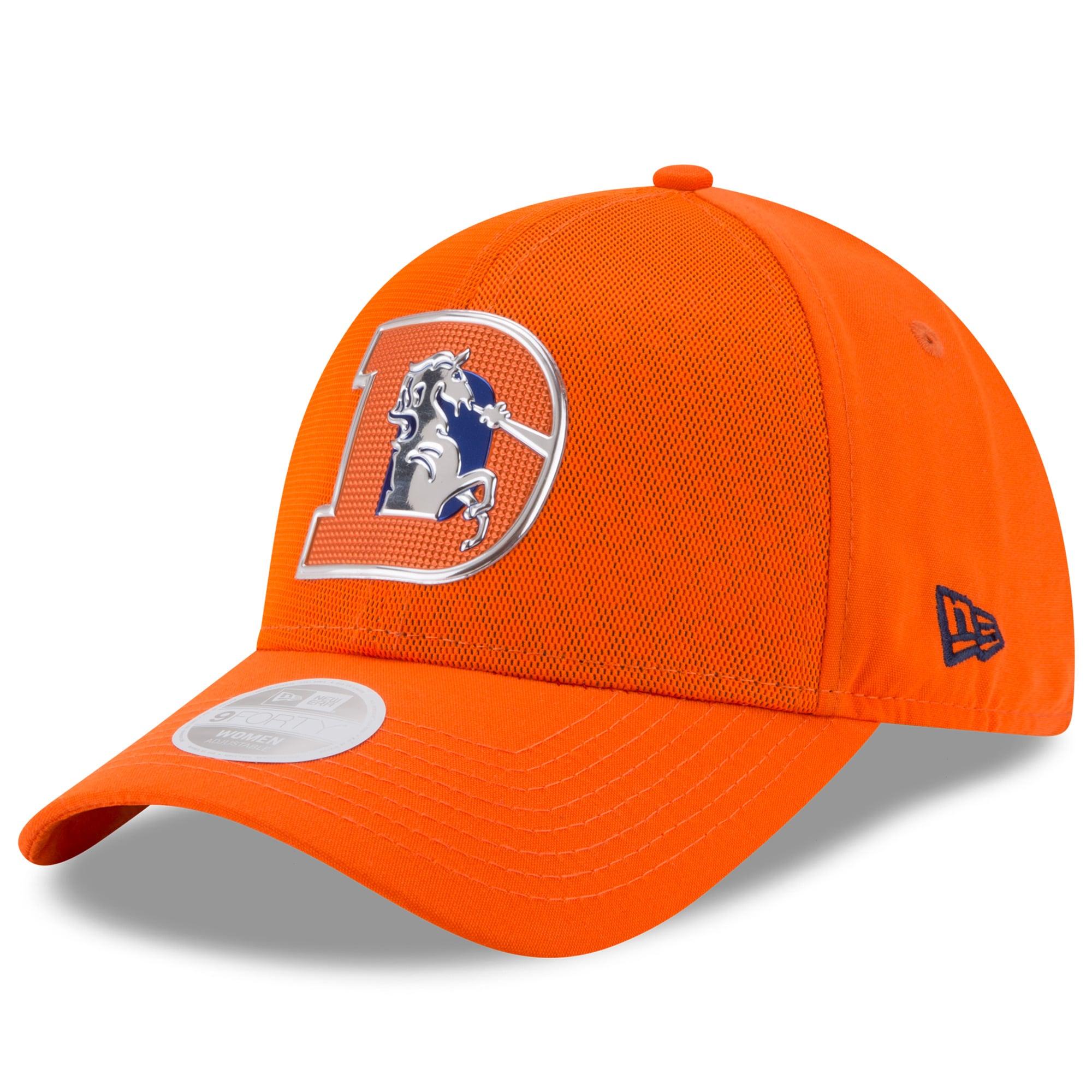 Denver Broncos New Era Women's 2017 Color Rush 9FORTY Adjustable Hat - Orange
