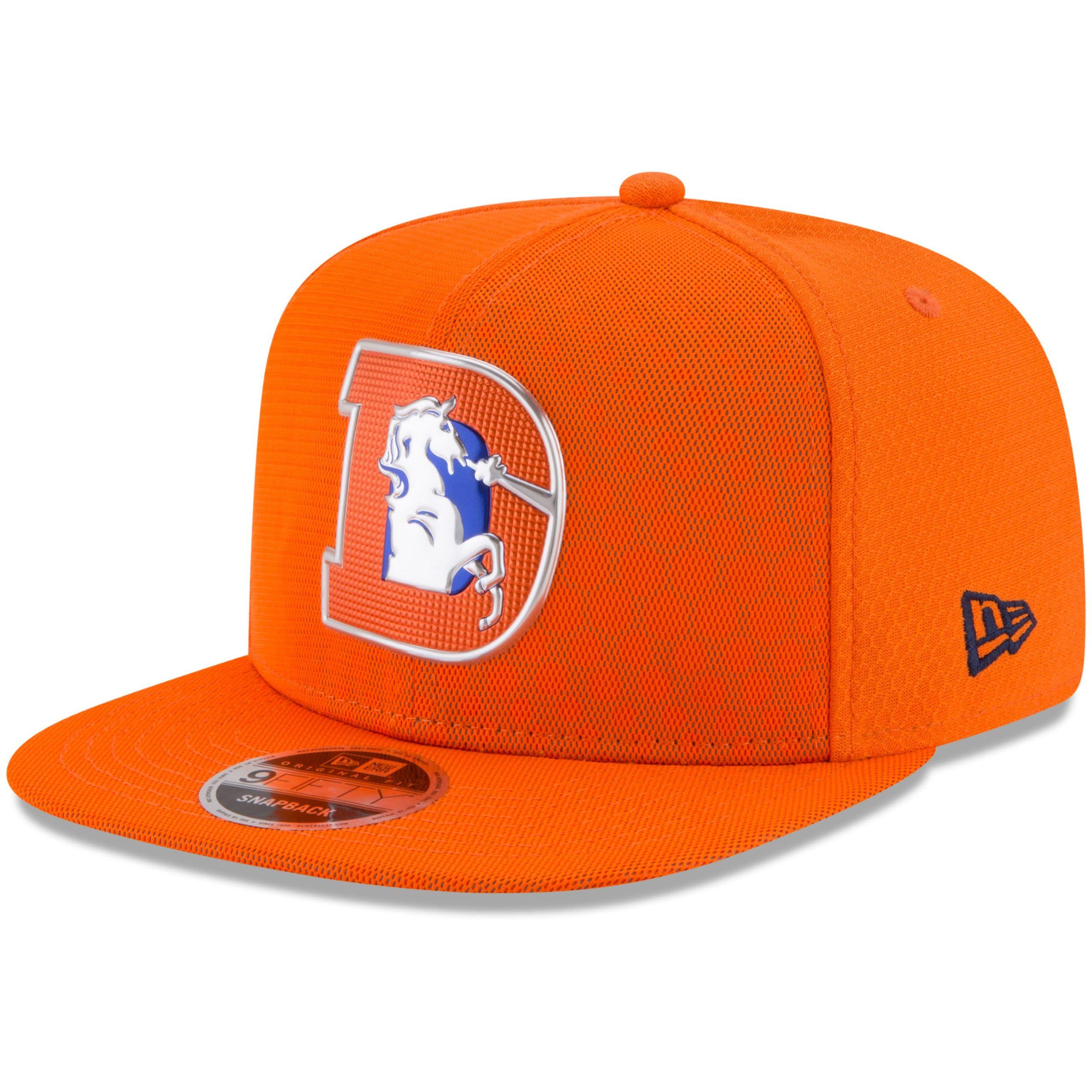 Denver Broncos New Era Youth 2017 Color Rush 9FIFTY Snapback Adjustable Hat - Orange
