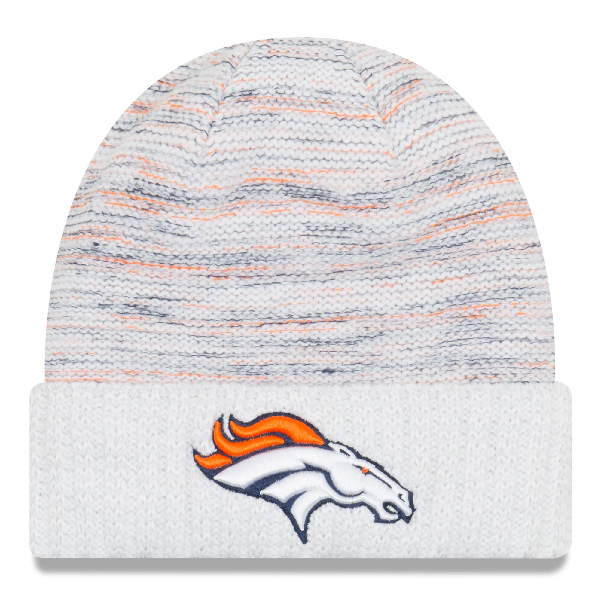 Denver Broncos New Era 2017 Color Rush Kickoff Knit Hat - White