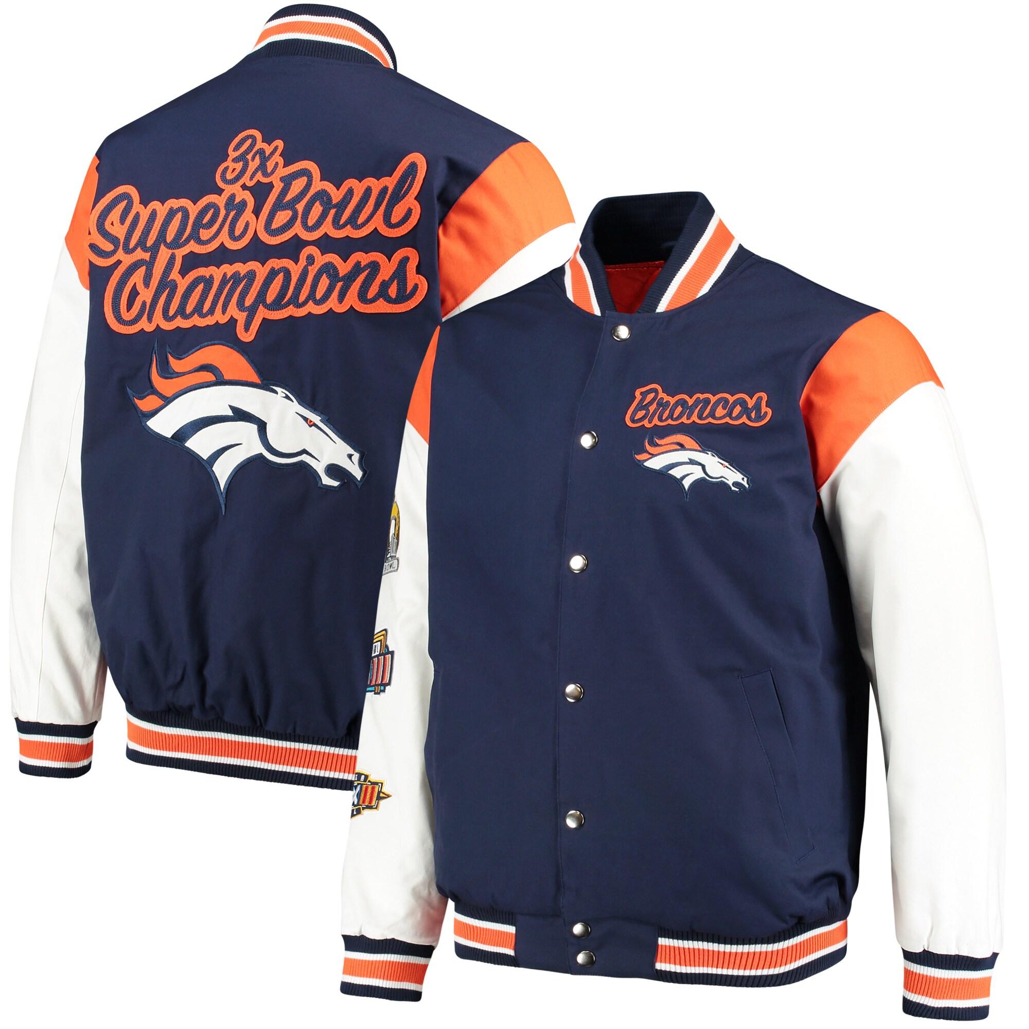 Denver Broncos G-III Sports by Carl Banks Elite Commemorative Jacket - Navy/White
