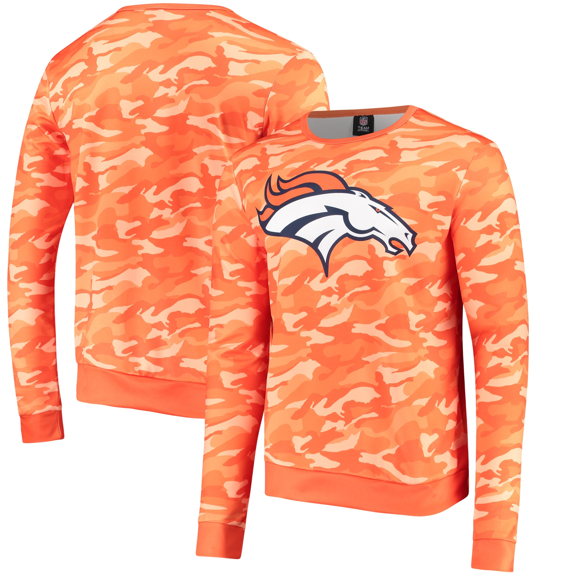 Denver Broncos Camo Sweater - Orange