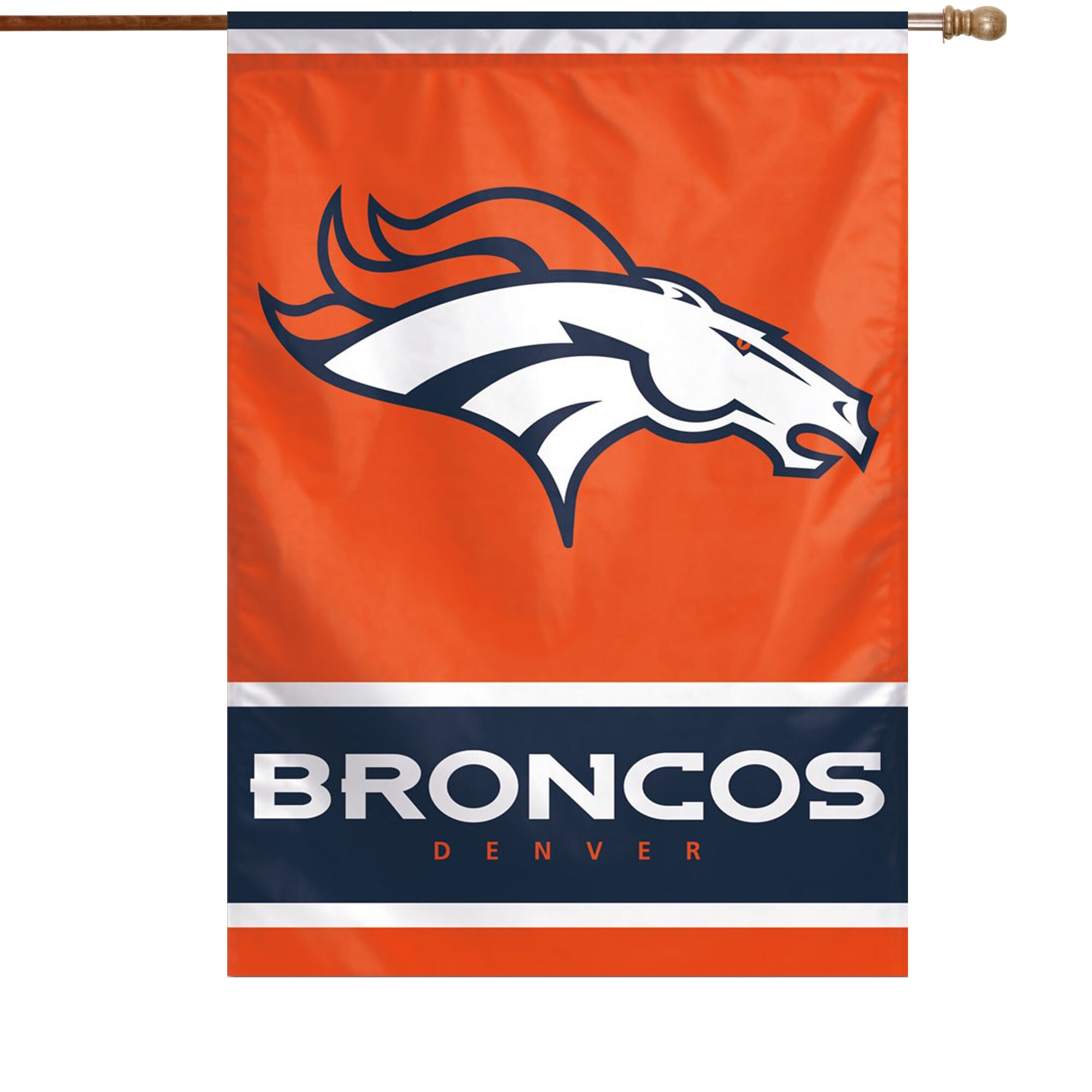 "Denver Broncos WinCraft 28"" x 40"" Primary Logo Single-Sided Vertical Banner"