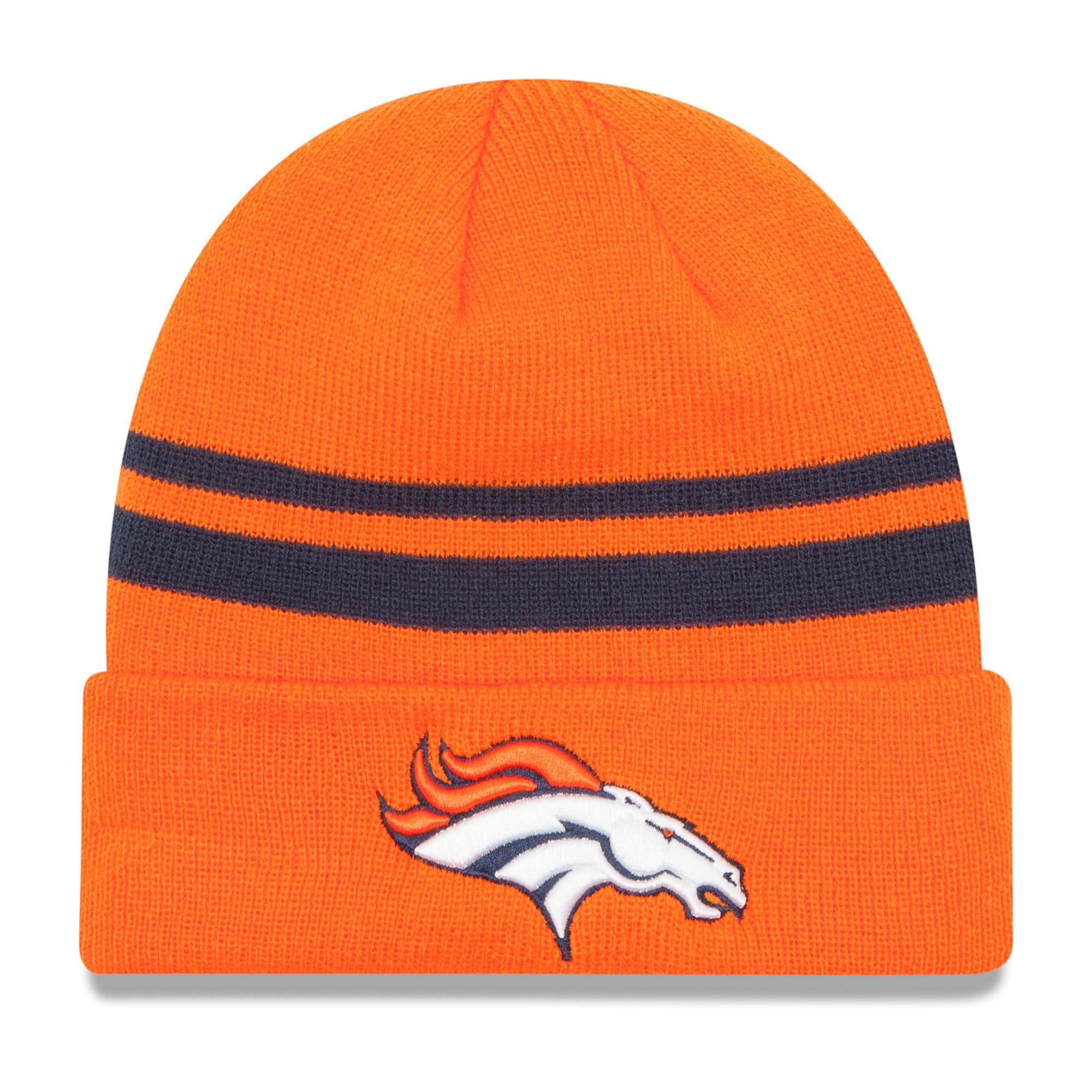 Denver Broncos New Era Team Logo Cuffed Knit Hat - Orange