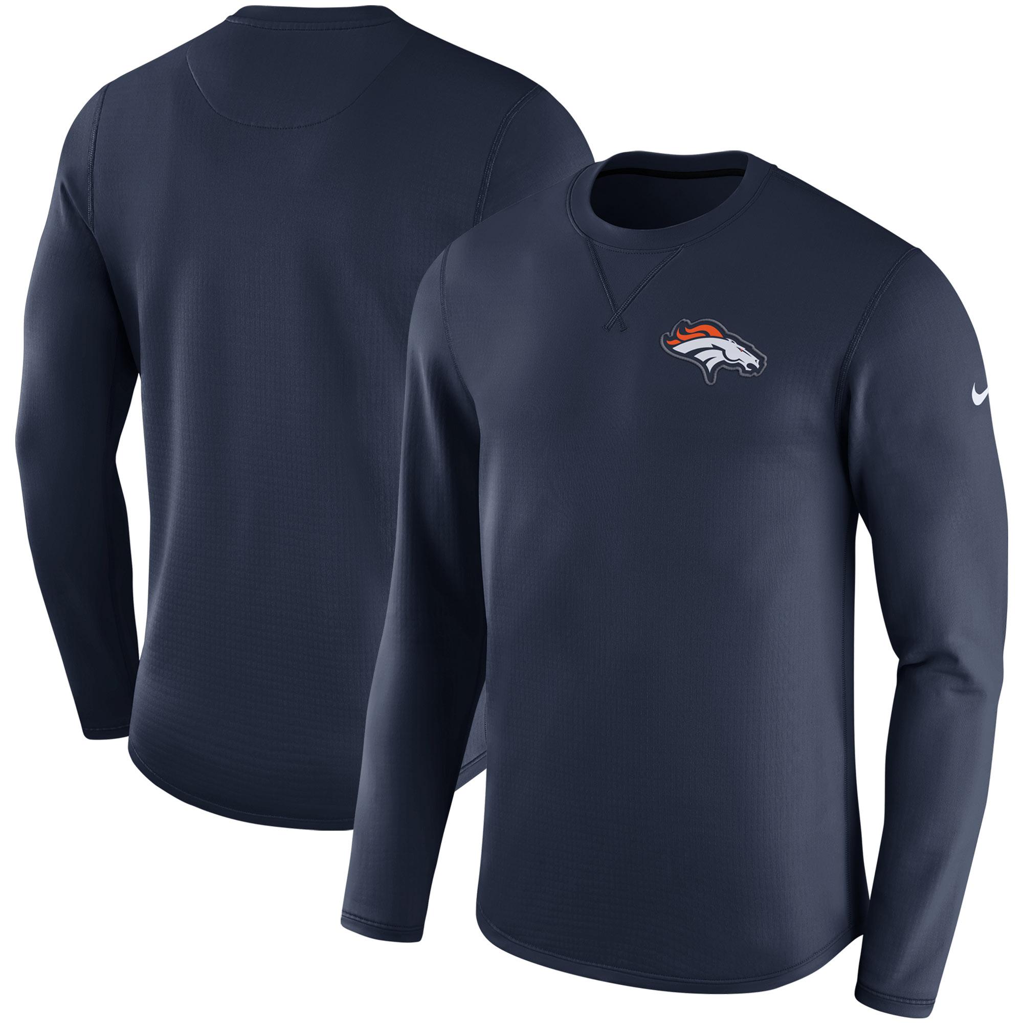 Denver Broncos Nike Sideline Modern Long Sleeve Sweatshirt - Navy