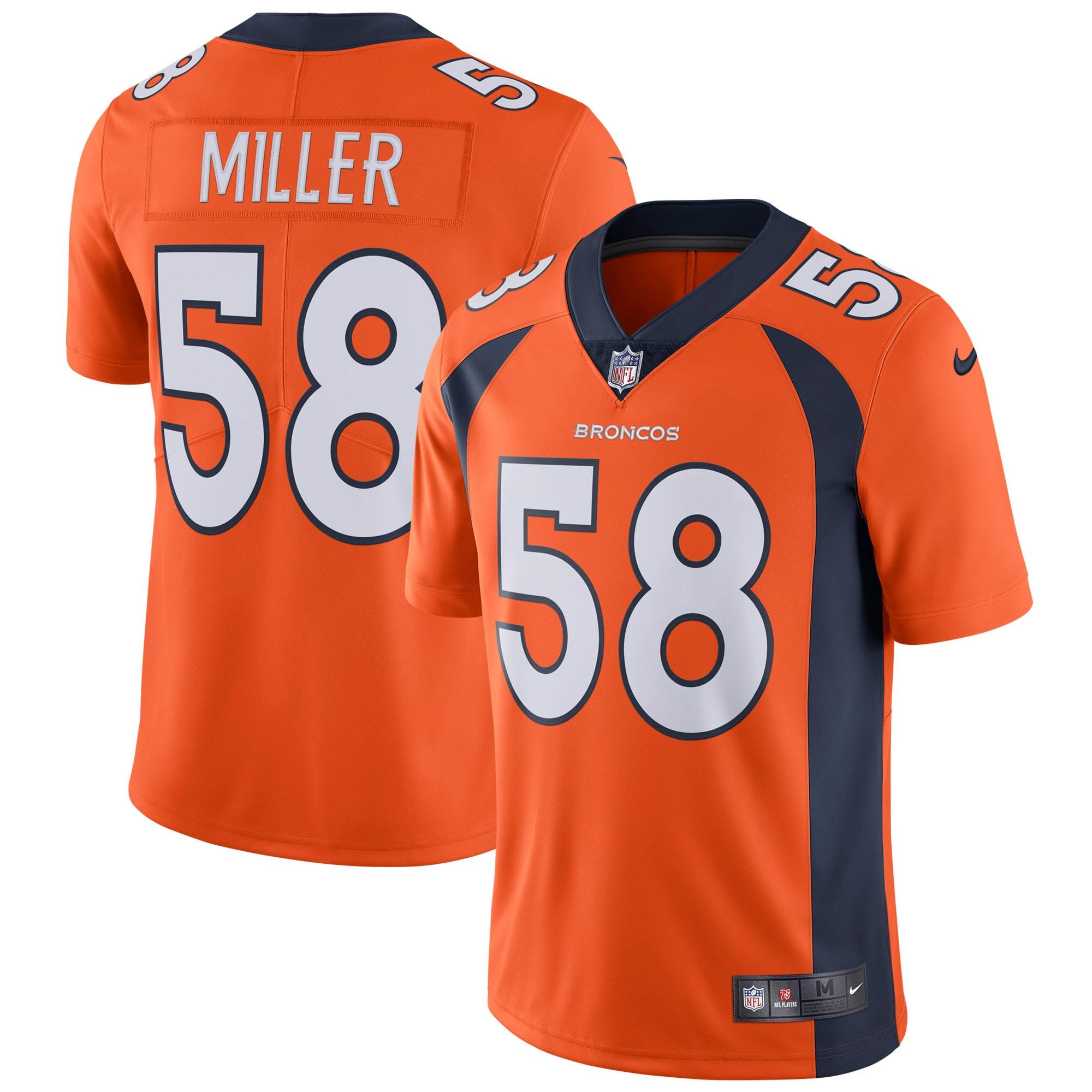 Von Miller Denver Broncos Nike Vapor Untouchable Limited Player Jersey - Orange