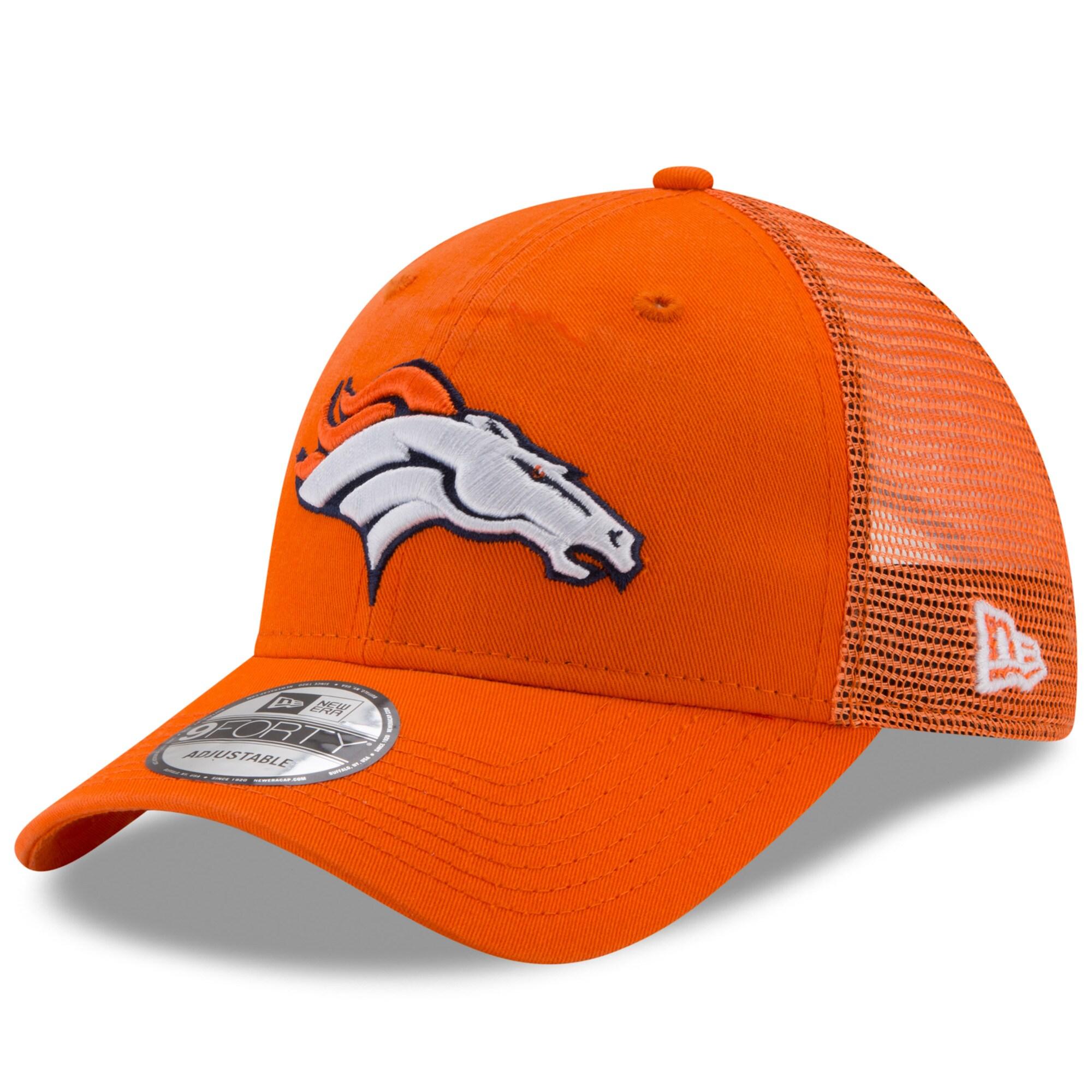 Denver Broncos New Era Trucker Washed 9FORTY Adjustable Hat - Orange