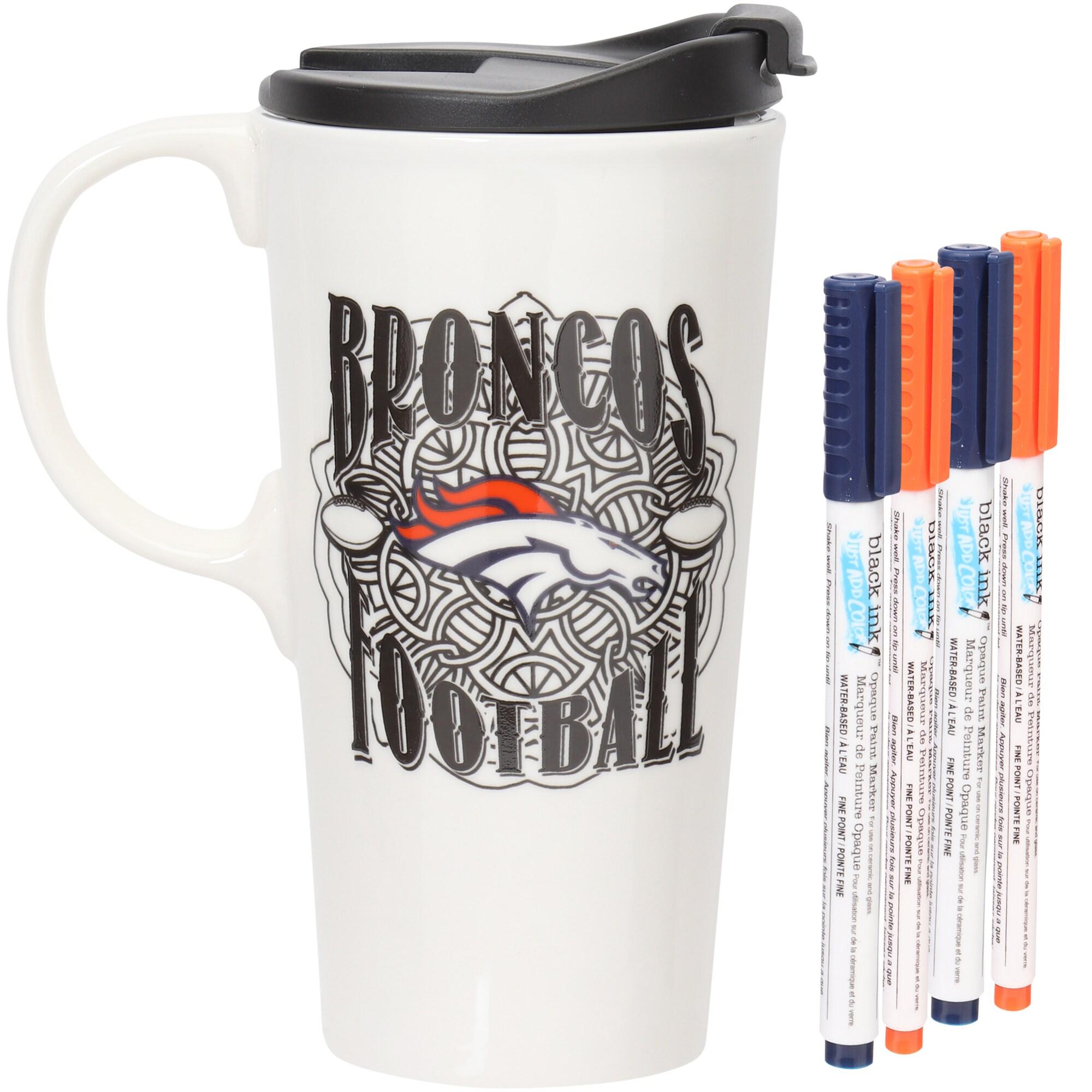 Denver Broncos 17oz. Just Add Color Perfect Cup