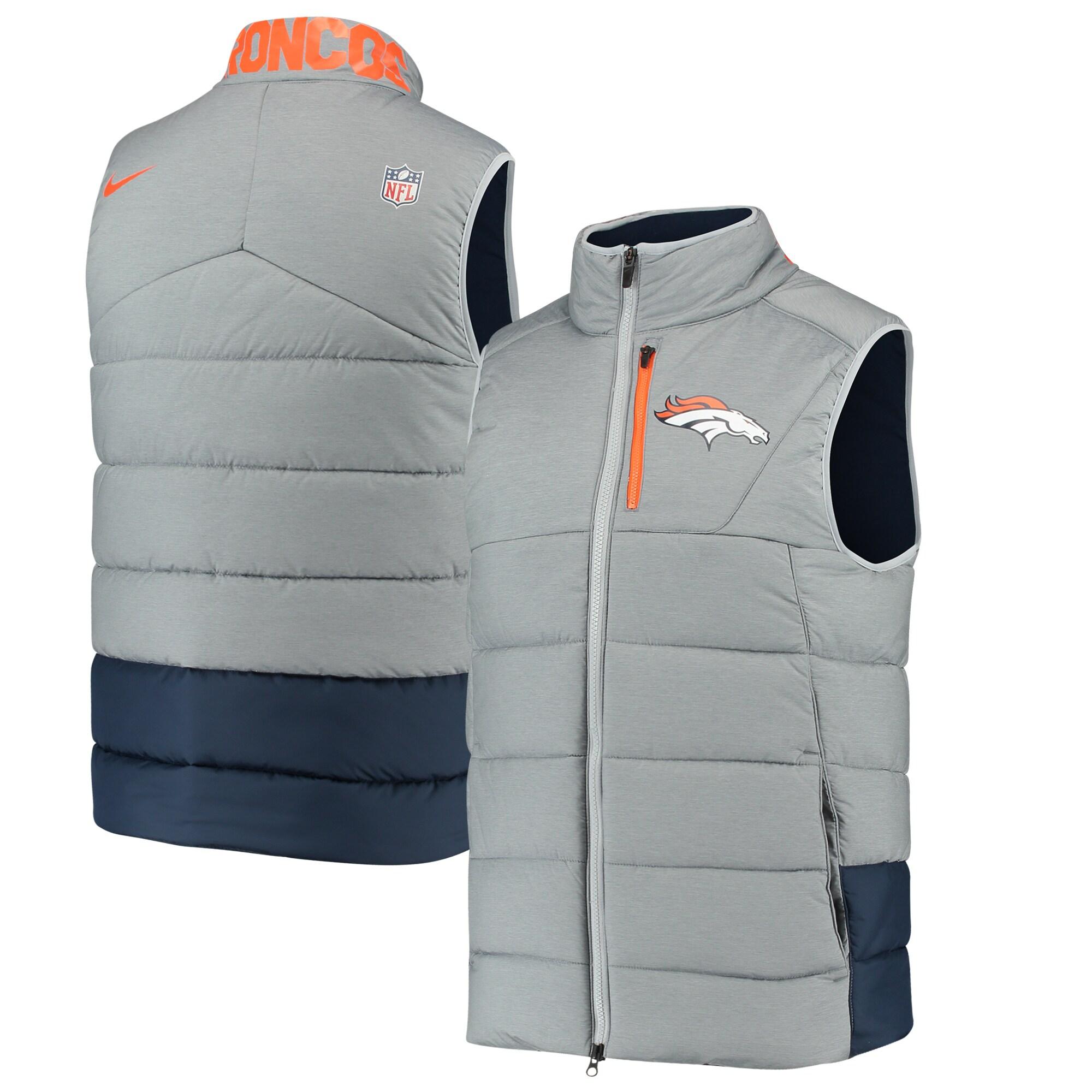 Denver Broncos Nike Sideline Vest - Gray