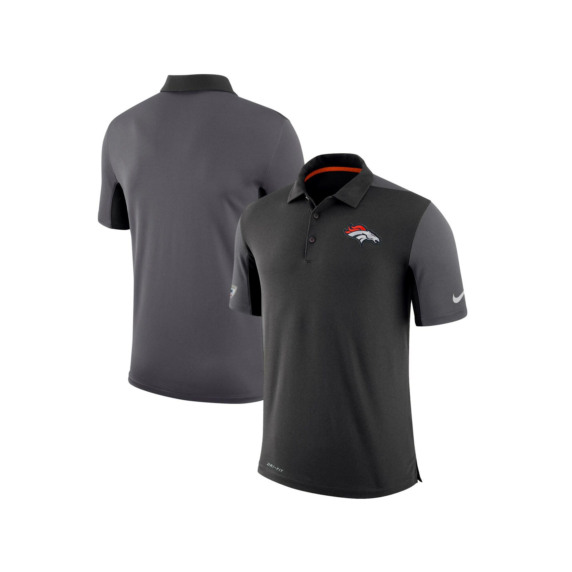 Denver Broncos Nike Sideline Team Issue Logo Performance Polo - Charcoal
