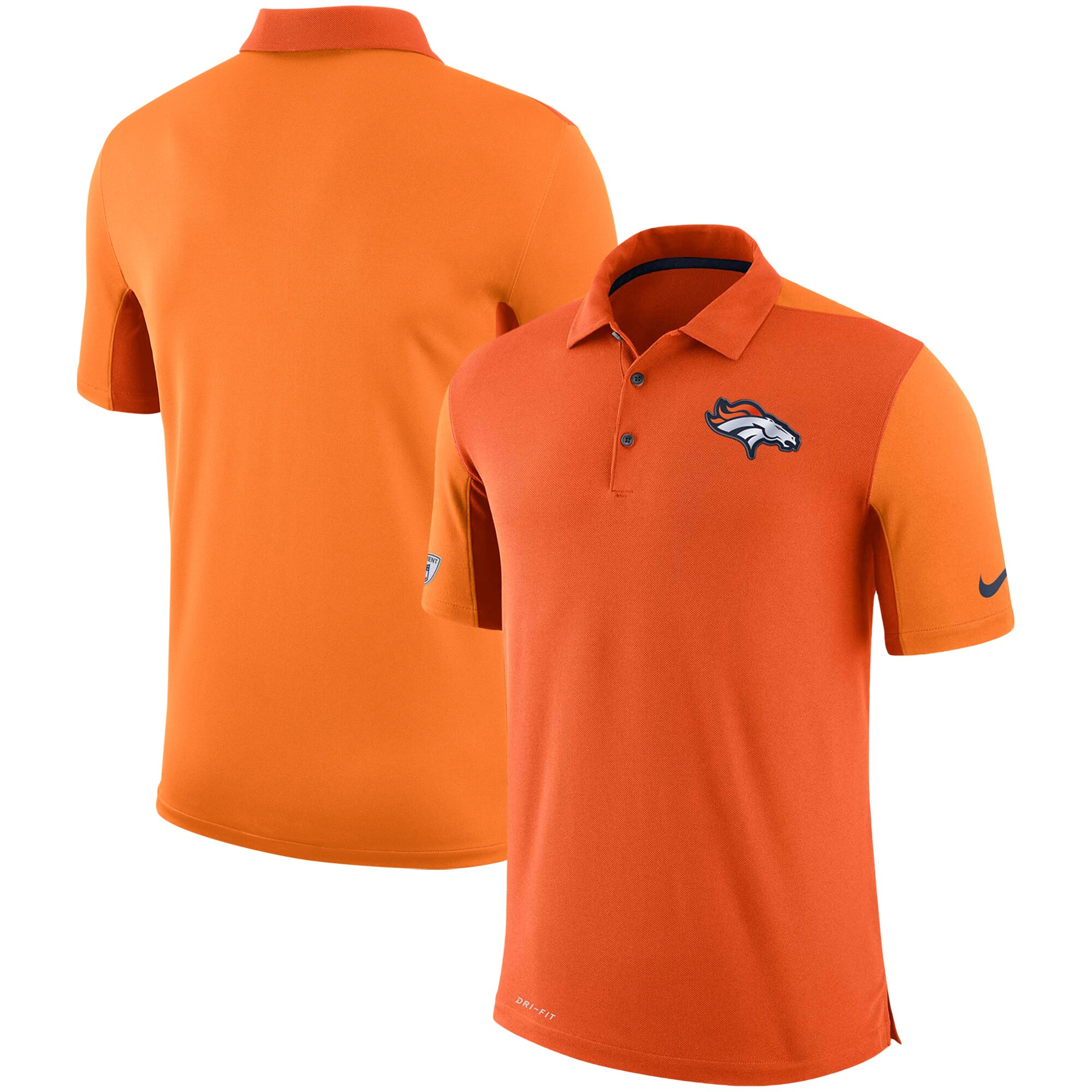Denver Broncos Nike Sideline Team Issue Logo Performance Polo - Orange