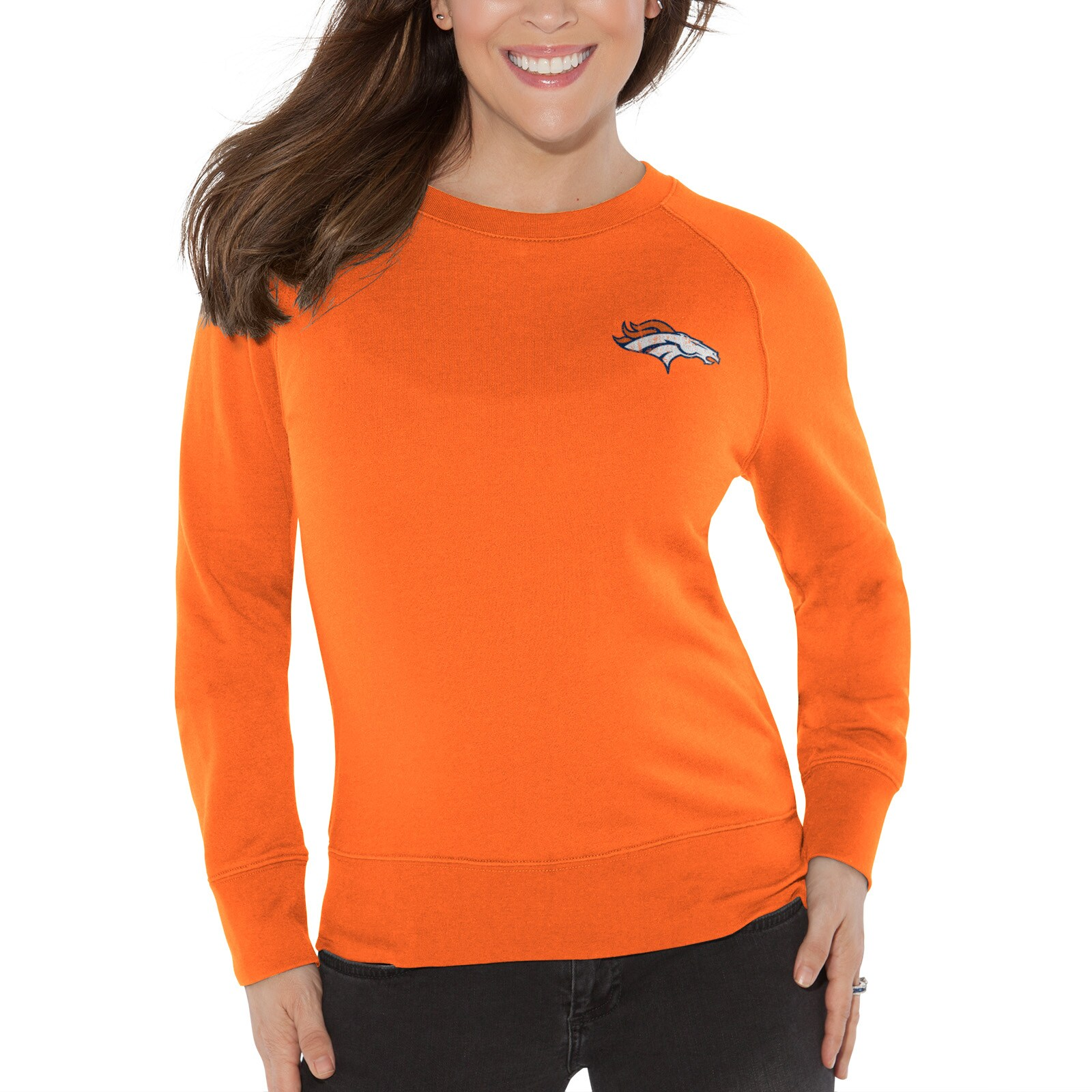 Denver Broncos Touch by Alyssa Milano Women's Star Player Sweatshirt - Orange