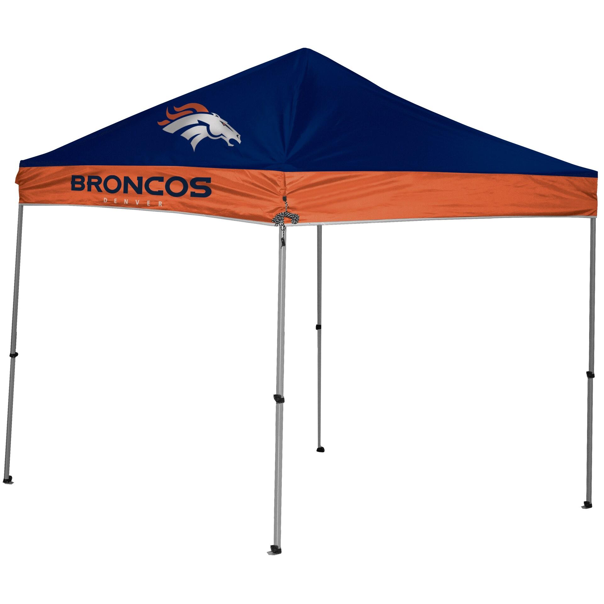 Denver Broncos 9' x 9' 2-Tone Straight Leg Canopy Tent