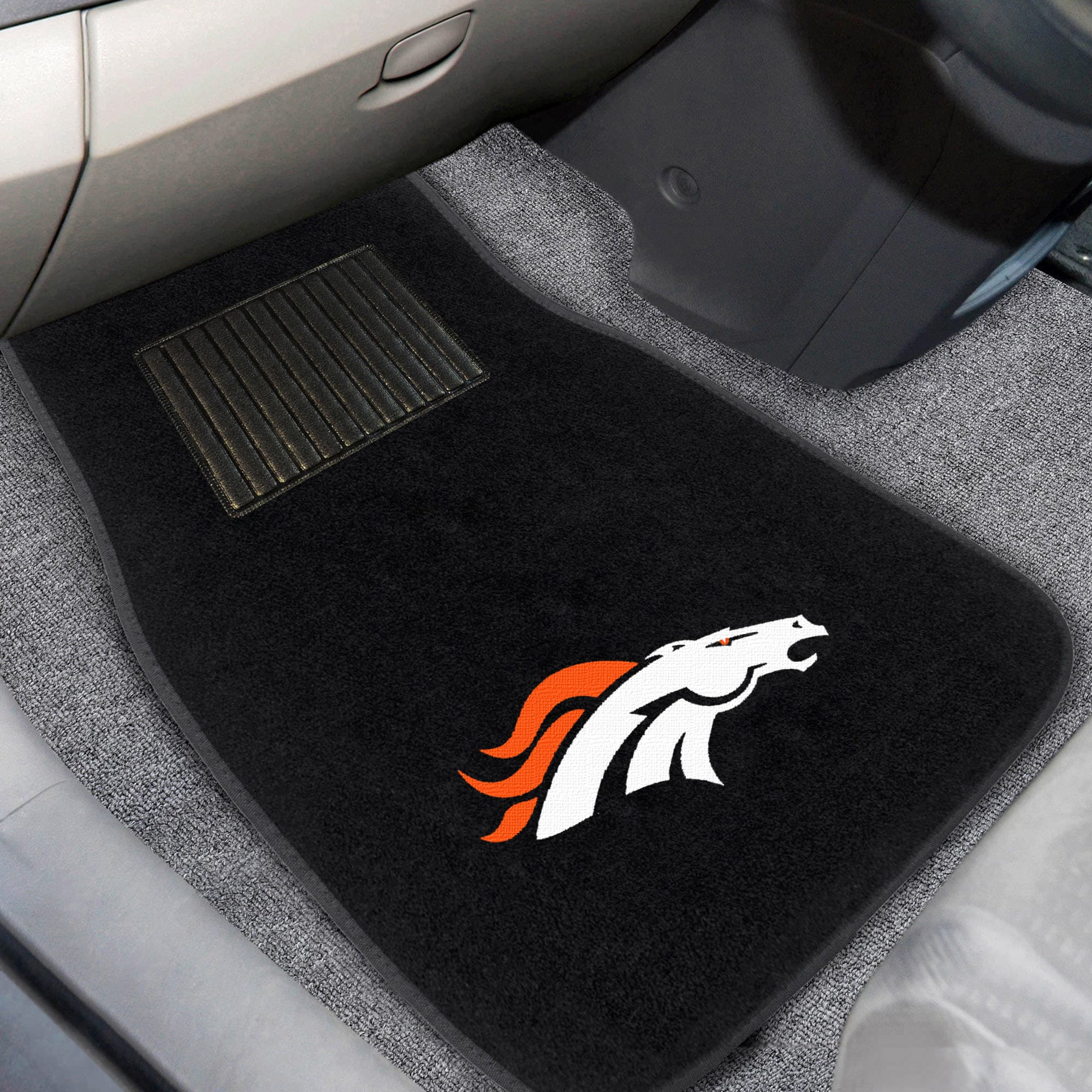 Denver Broncos 2-Piece Embroidered Car Mat Set