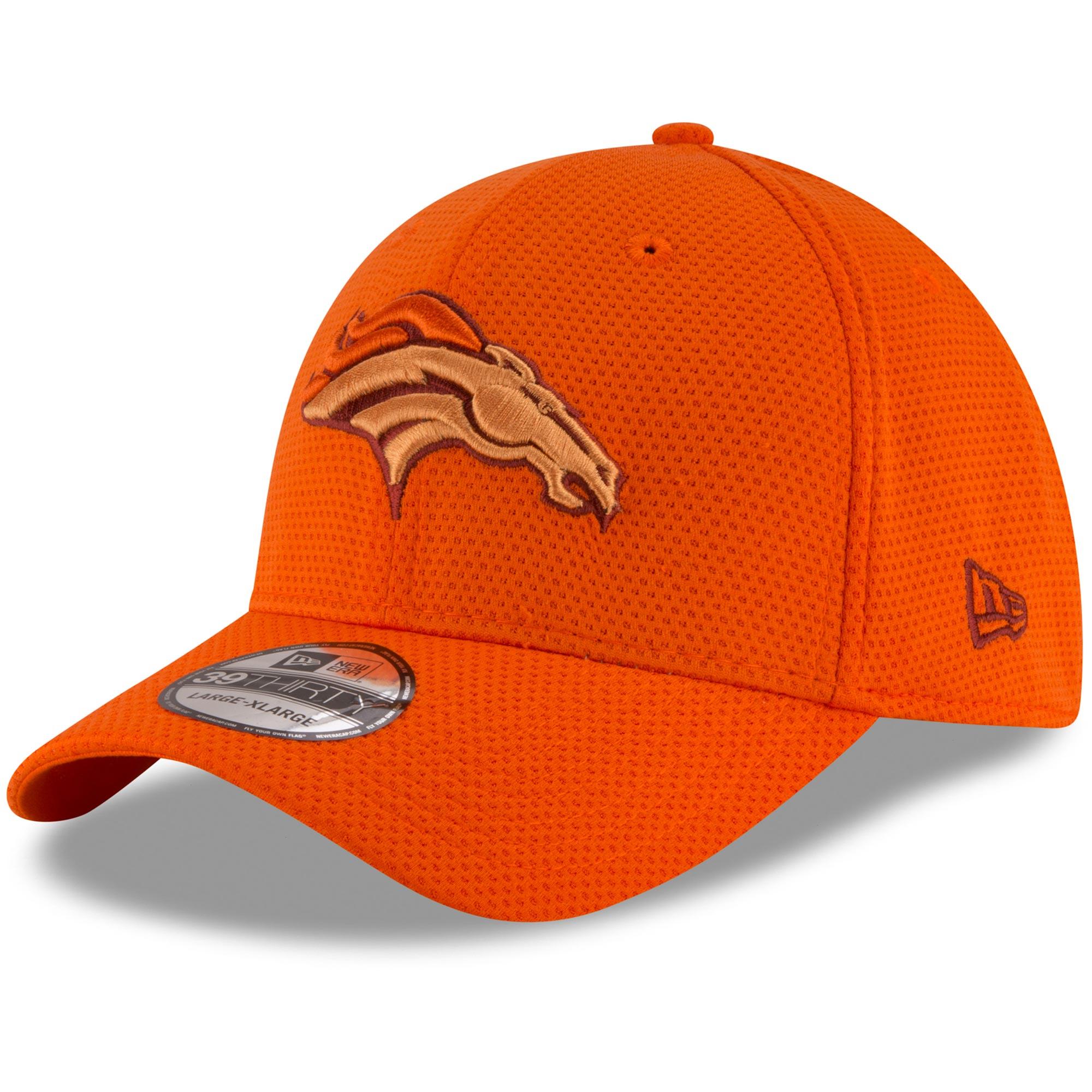 Denver Broncos New Era Team Color Tone Tech Redux 39THIRTY Flex Hat - Orange