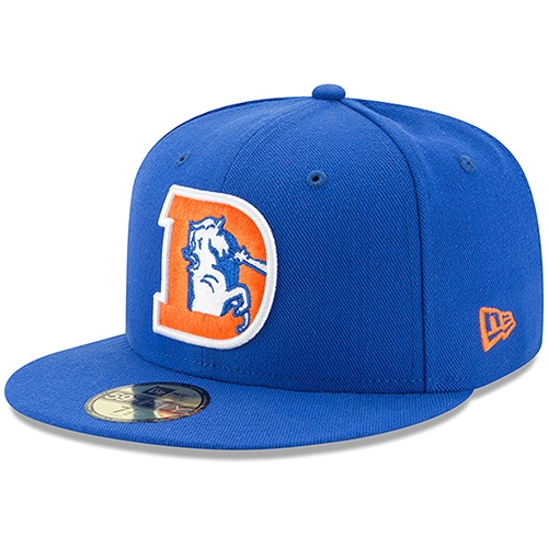 Denver Broncos New Era Classic Logo Omaha 59FIFTY Fitted Hat - Royal