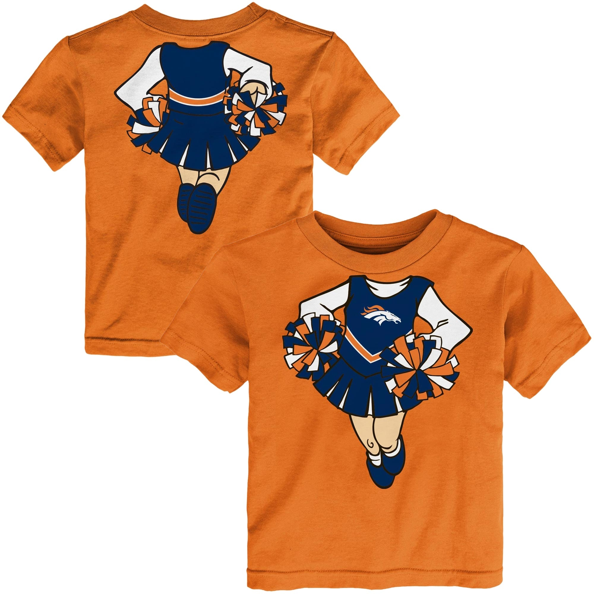 Denver Broncos Girls Toddler Cheerleader Dreams T-Shirt - Orange