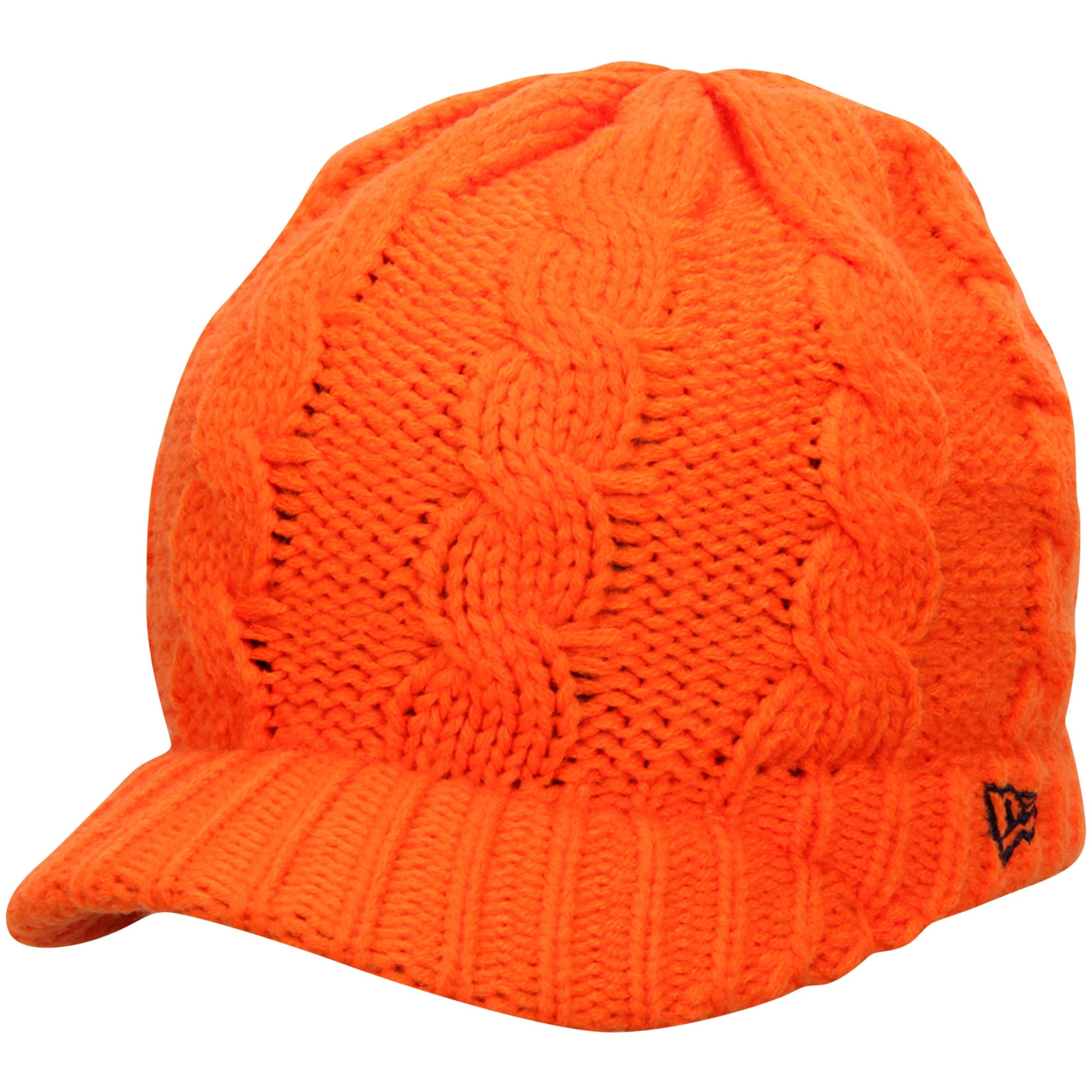 Denver Broncos New Era Women's Arctic Blast Cable Cadet Beanie - Orange
