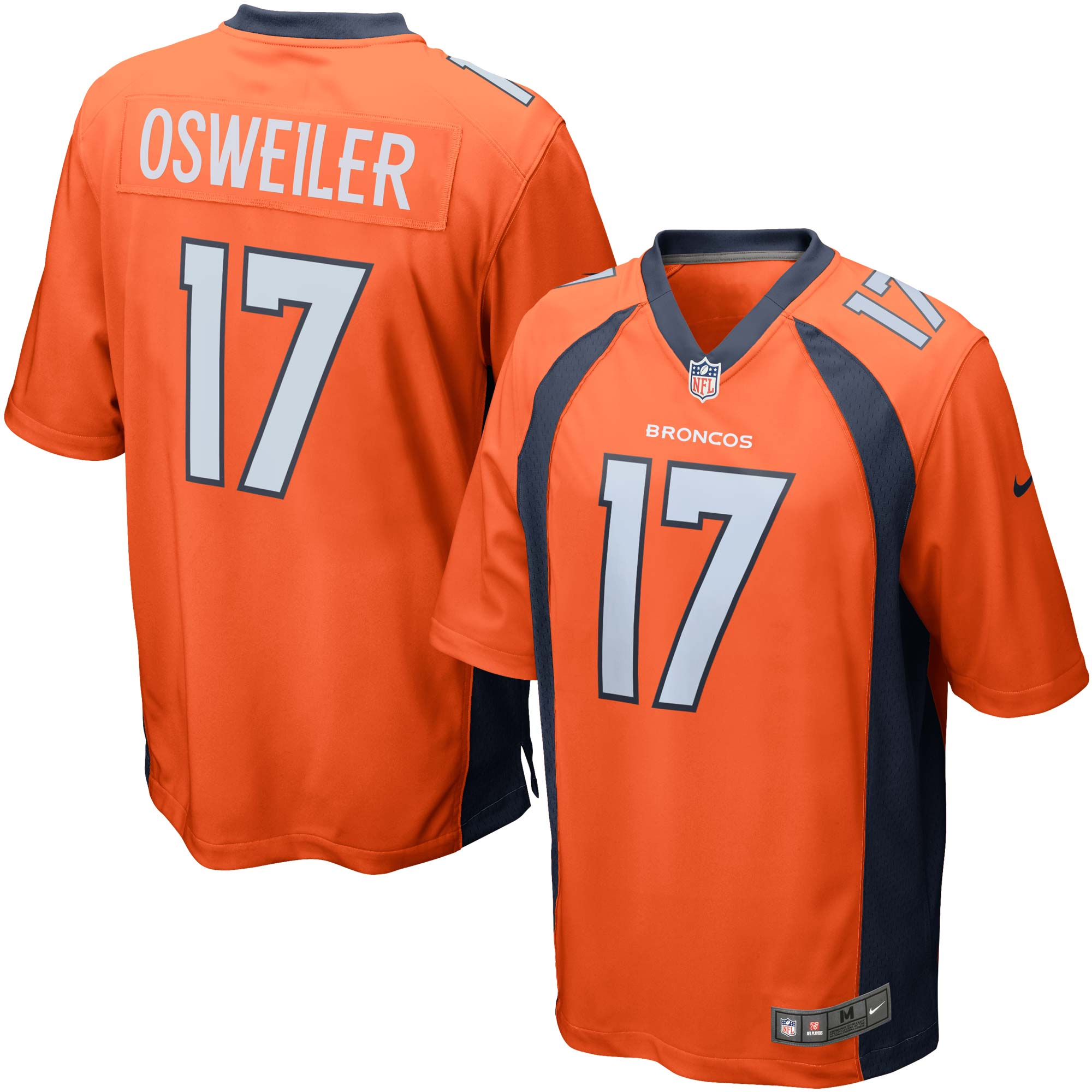 Brock Osweiler Denver Broncos Nike Game Jersey - Orange