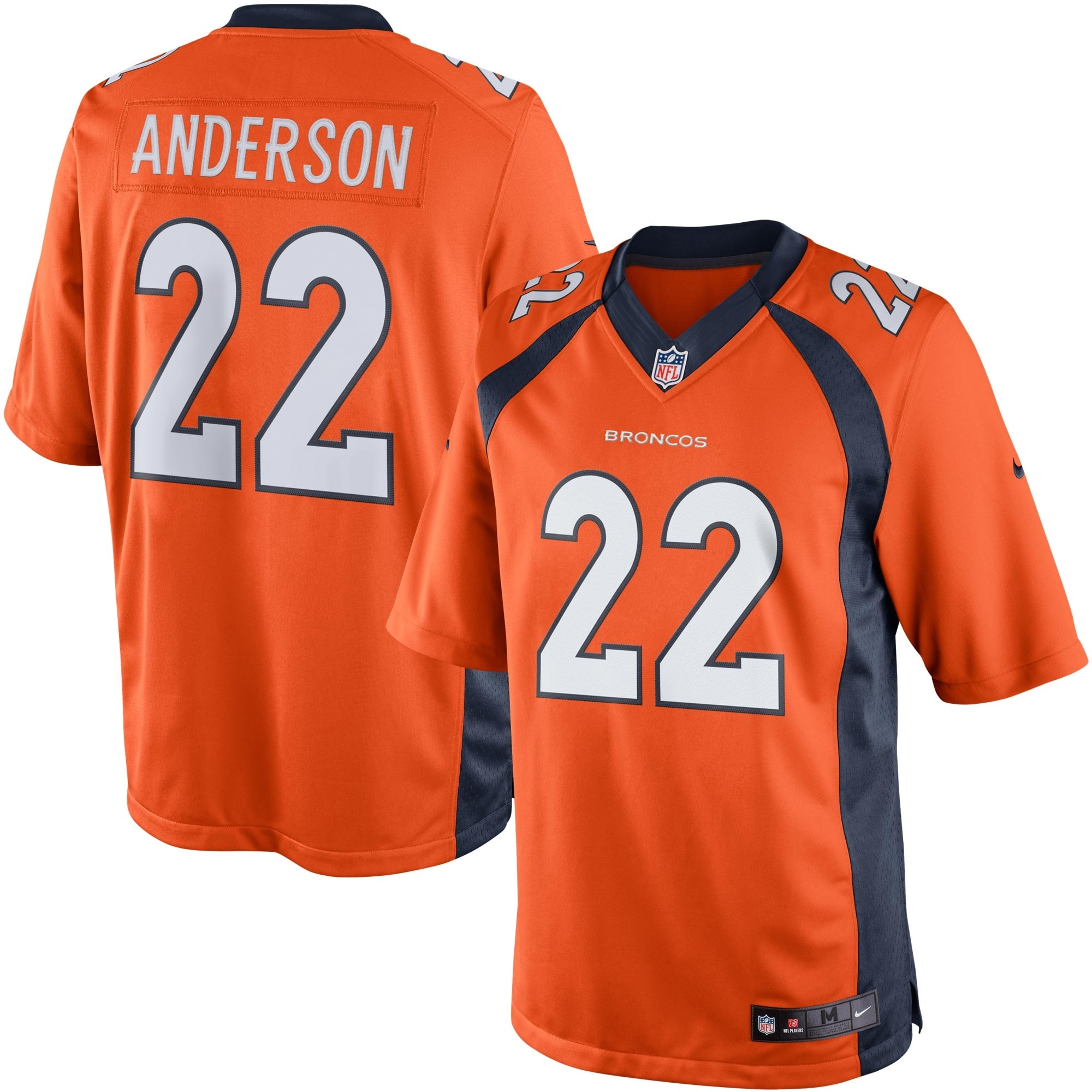 CJ Anderson Denver Broncos Nike Limited Jersey - Orange