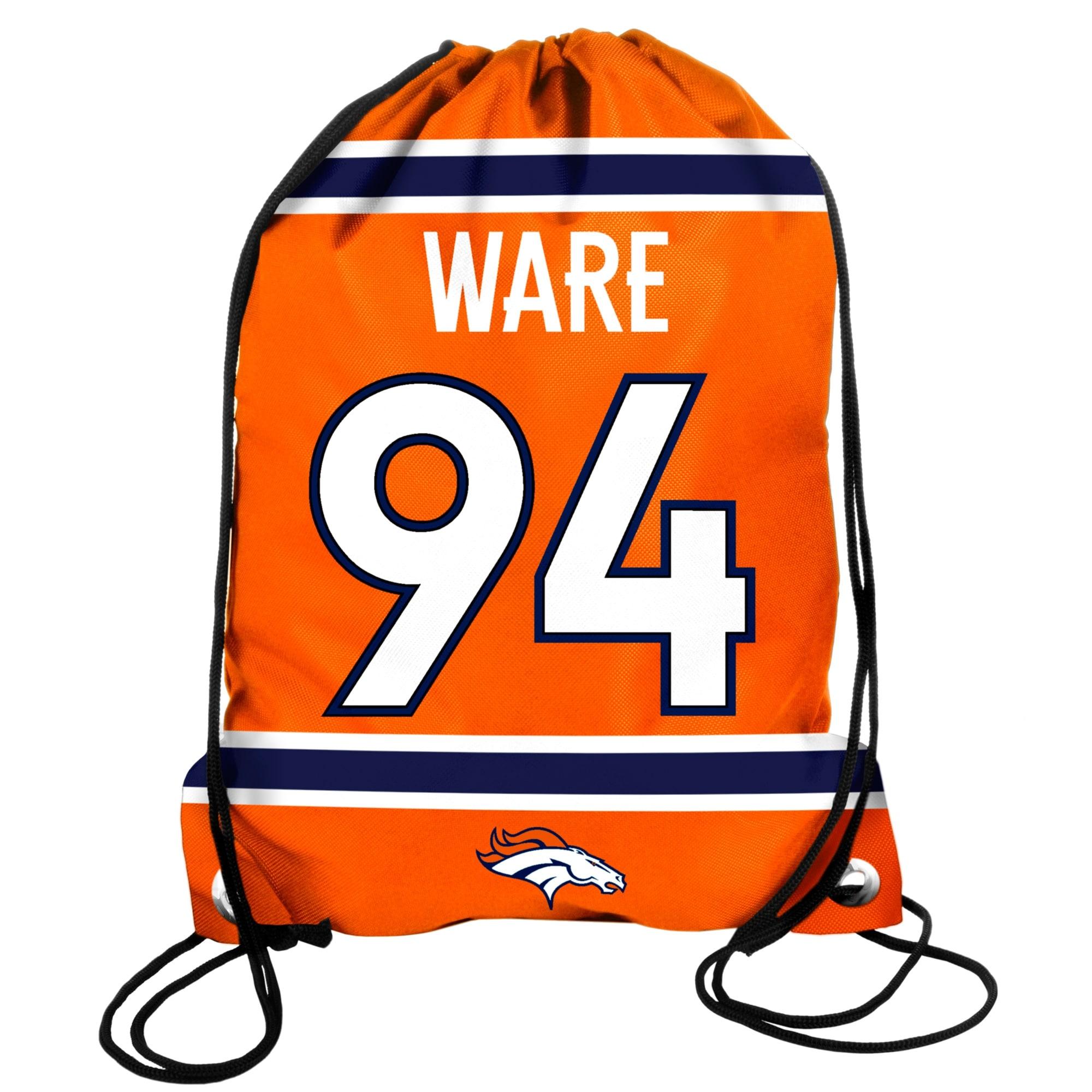 No. 94 DeMarcus Ware Denver Broncos Player Drawstring Backpack - Orange