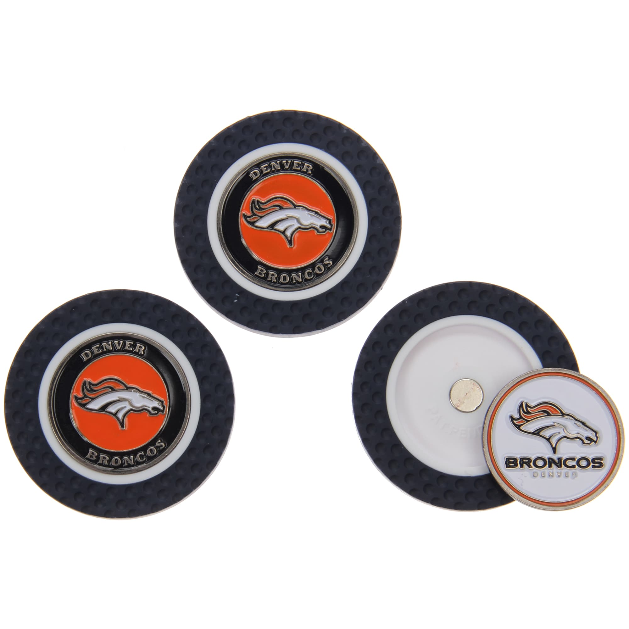 Denver Broncos 3-Pack Poker Chip Golf Ball Markers