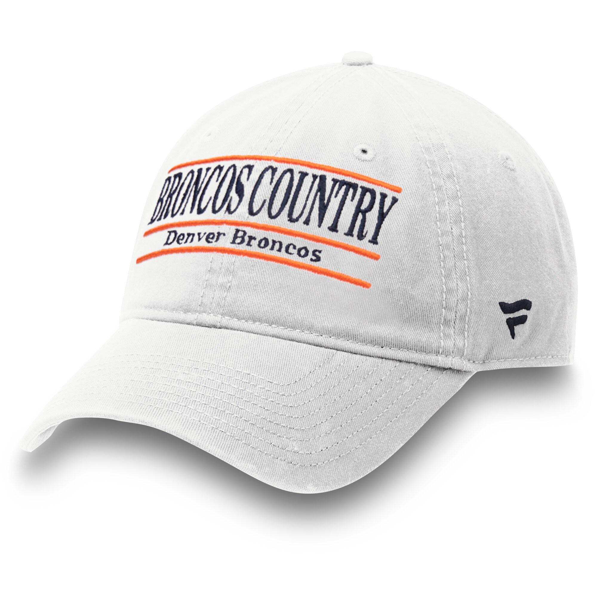 Denver Broncos NFL Pro Line by Fanatics Branded Broncos Country Nickname Bar Adjustable Hat - White