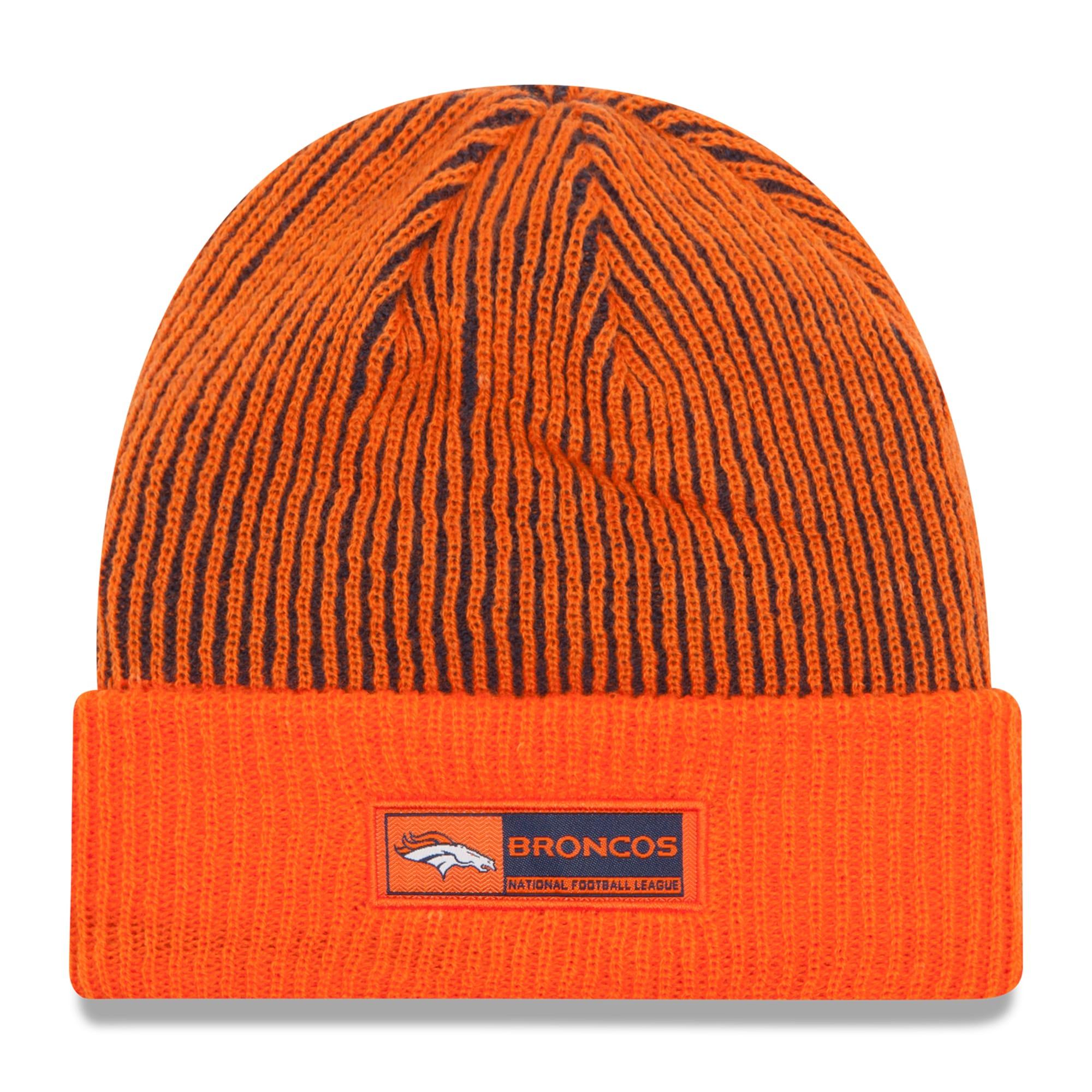Denver Broncos New Era Sideline Official Tech Knit Hat - Orange