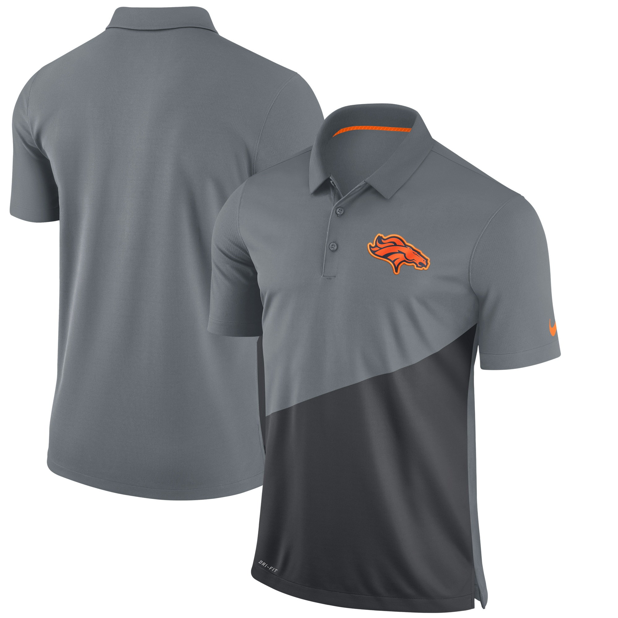 Denver Broncos Nike Stadium Performance Polo - Gray
