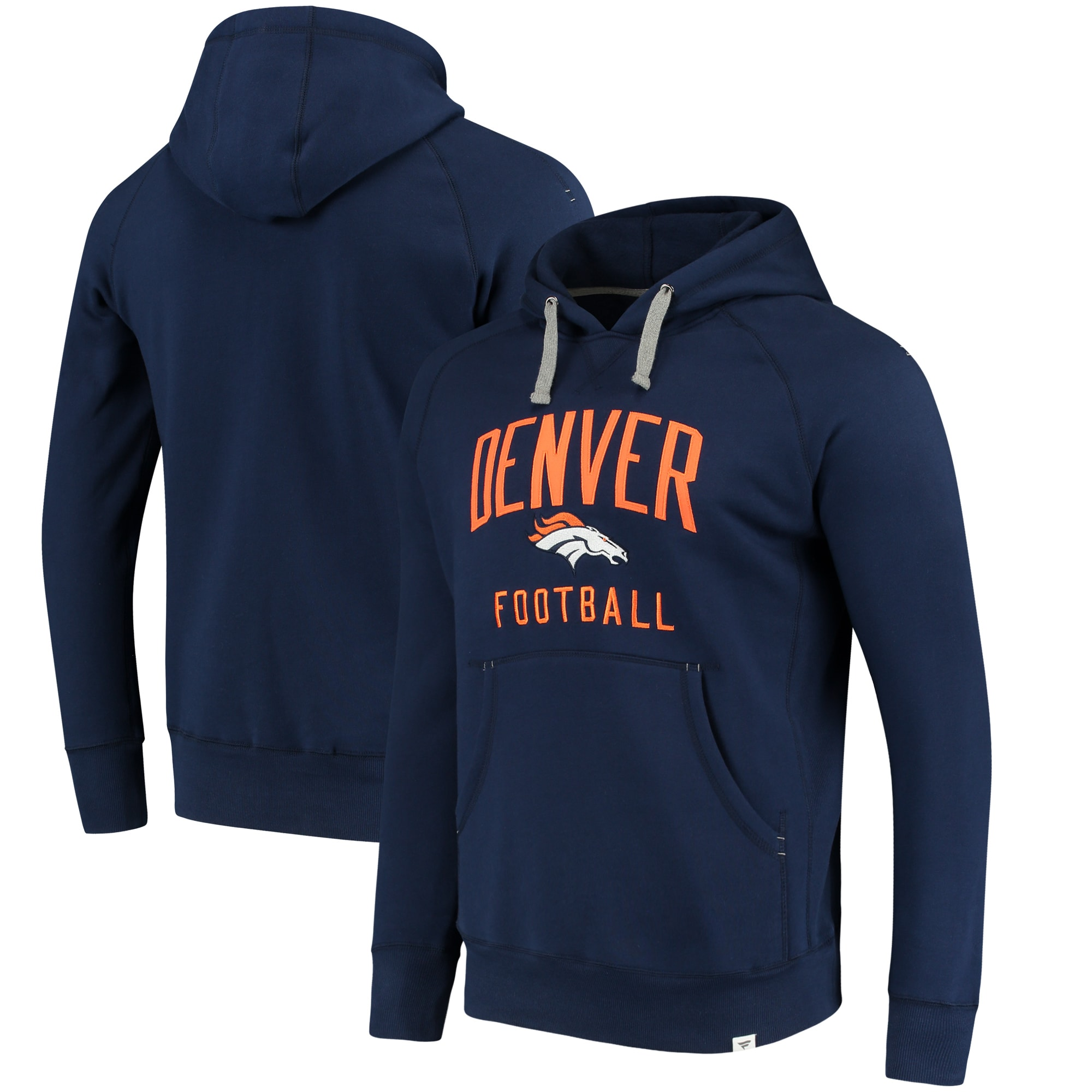 Denver Broncos NFL Pro Line by Fanatics Branded Indestructible Pullover Hoodie - Navy